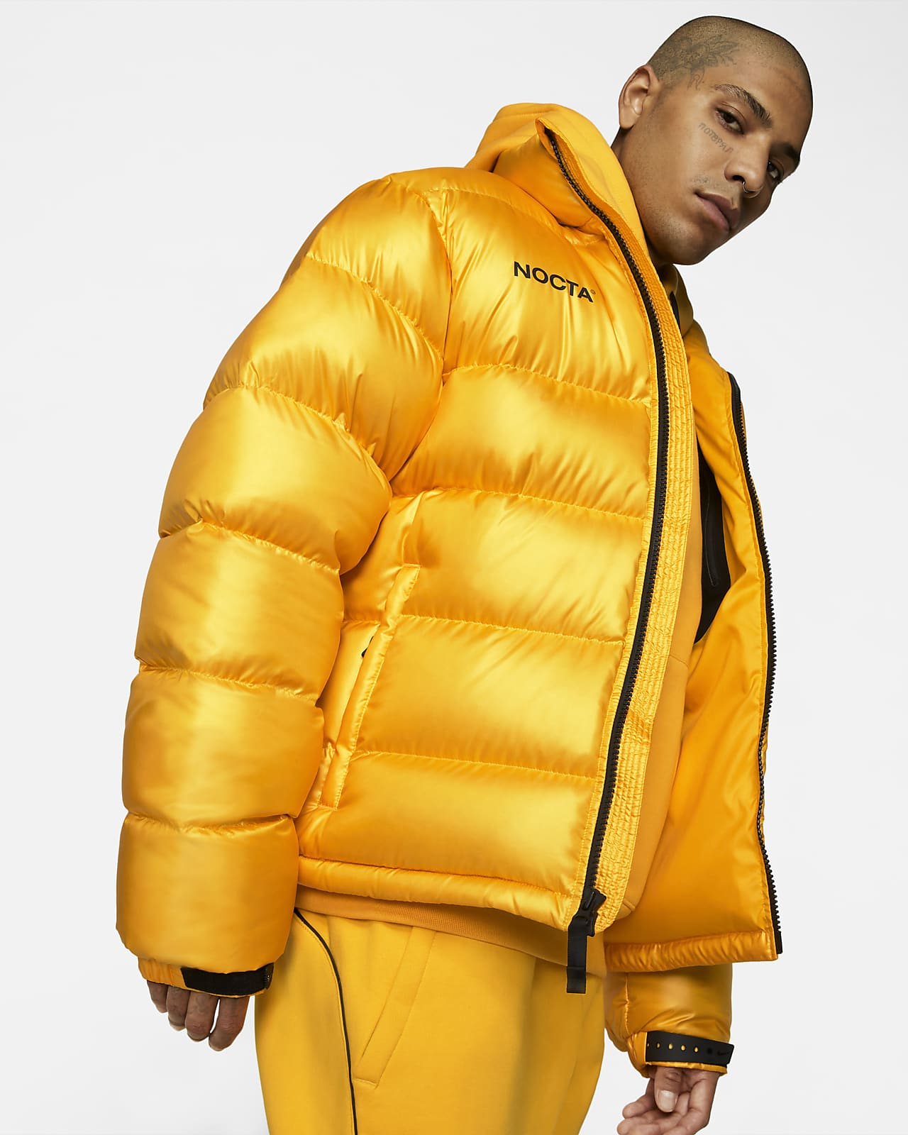 Drake Nike NOCTA University Gold Puffer Jacket