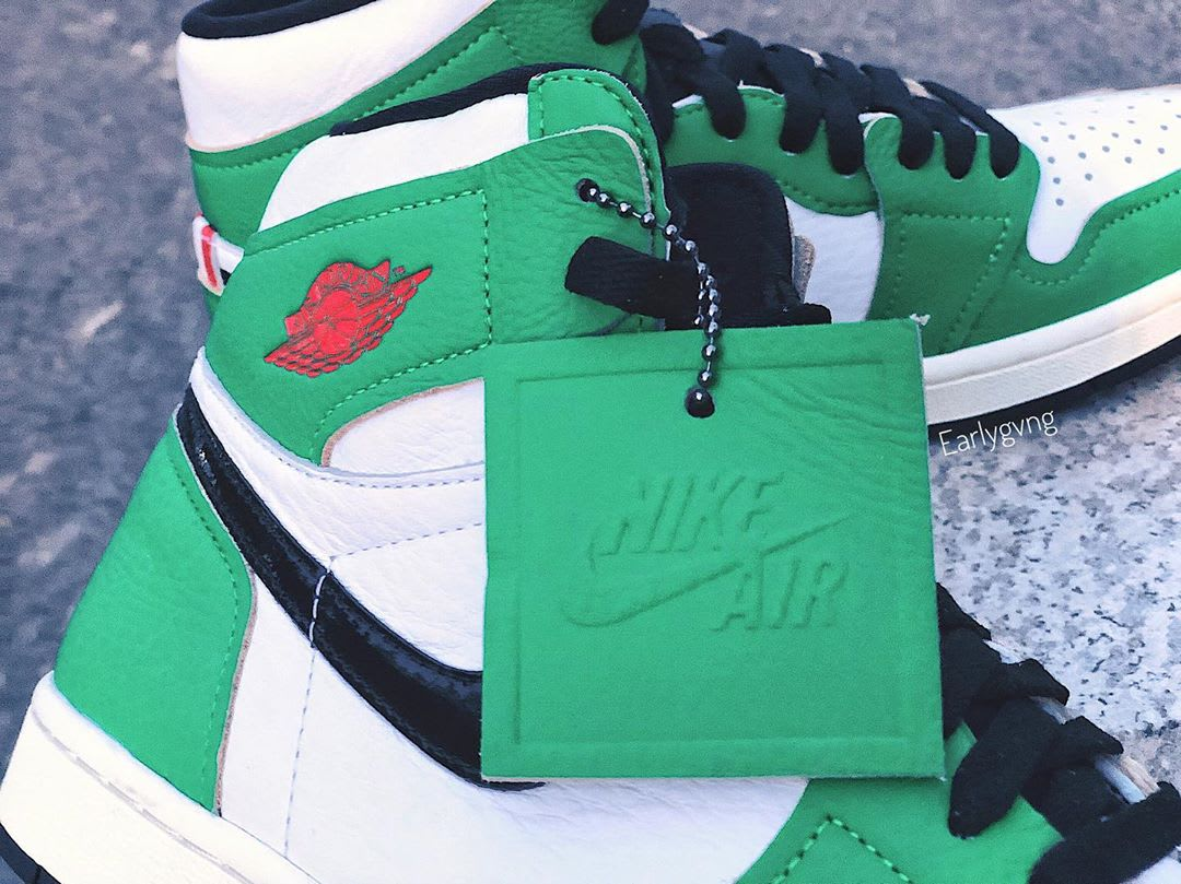 Air Jordan 1 Women's Lucky Green Release Date DB4612-300 Hang Tag
