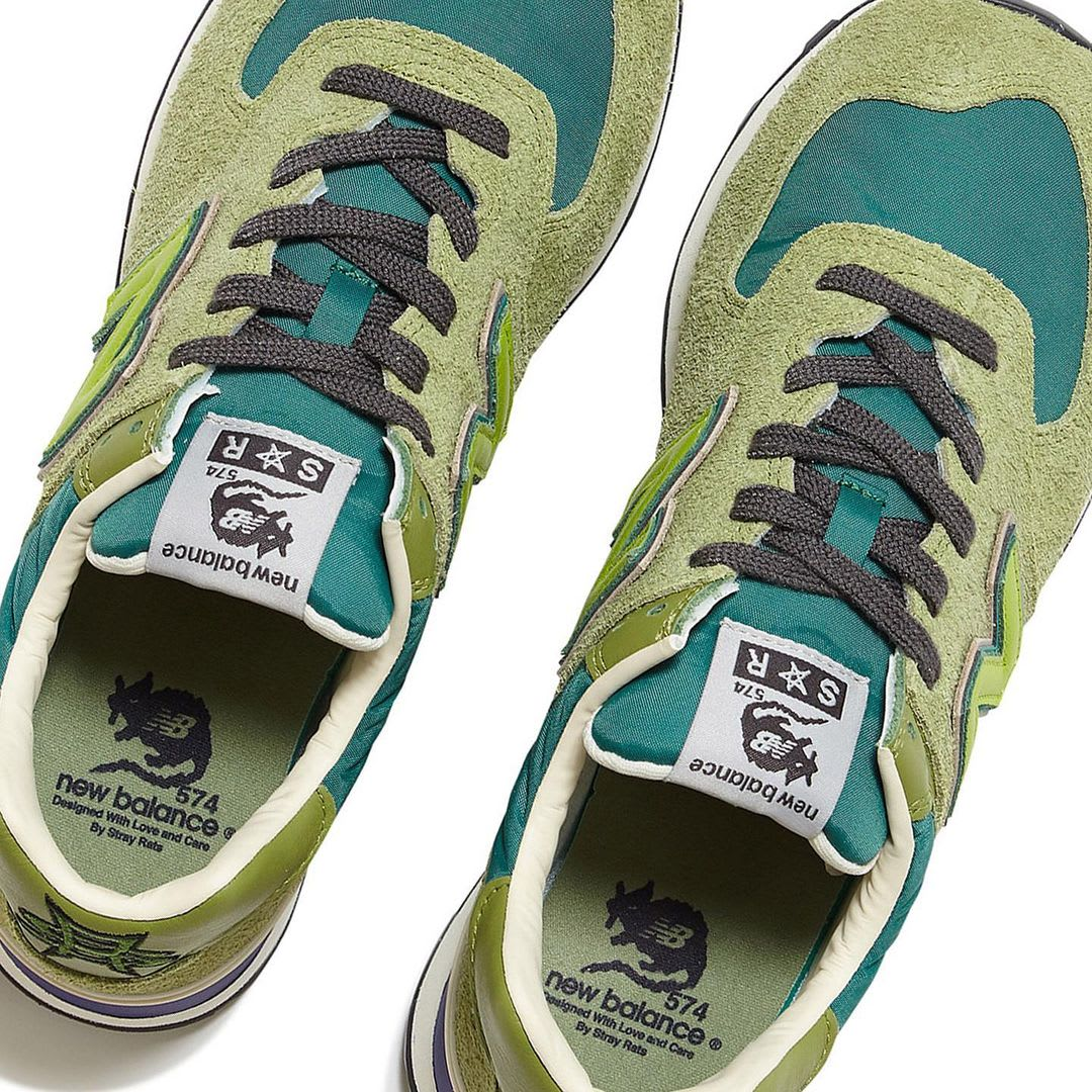 Stray Rats x New Balance 574 Green (Top)