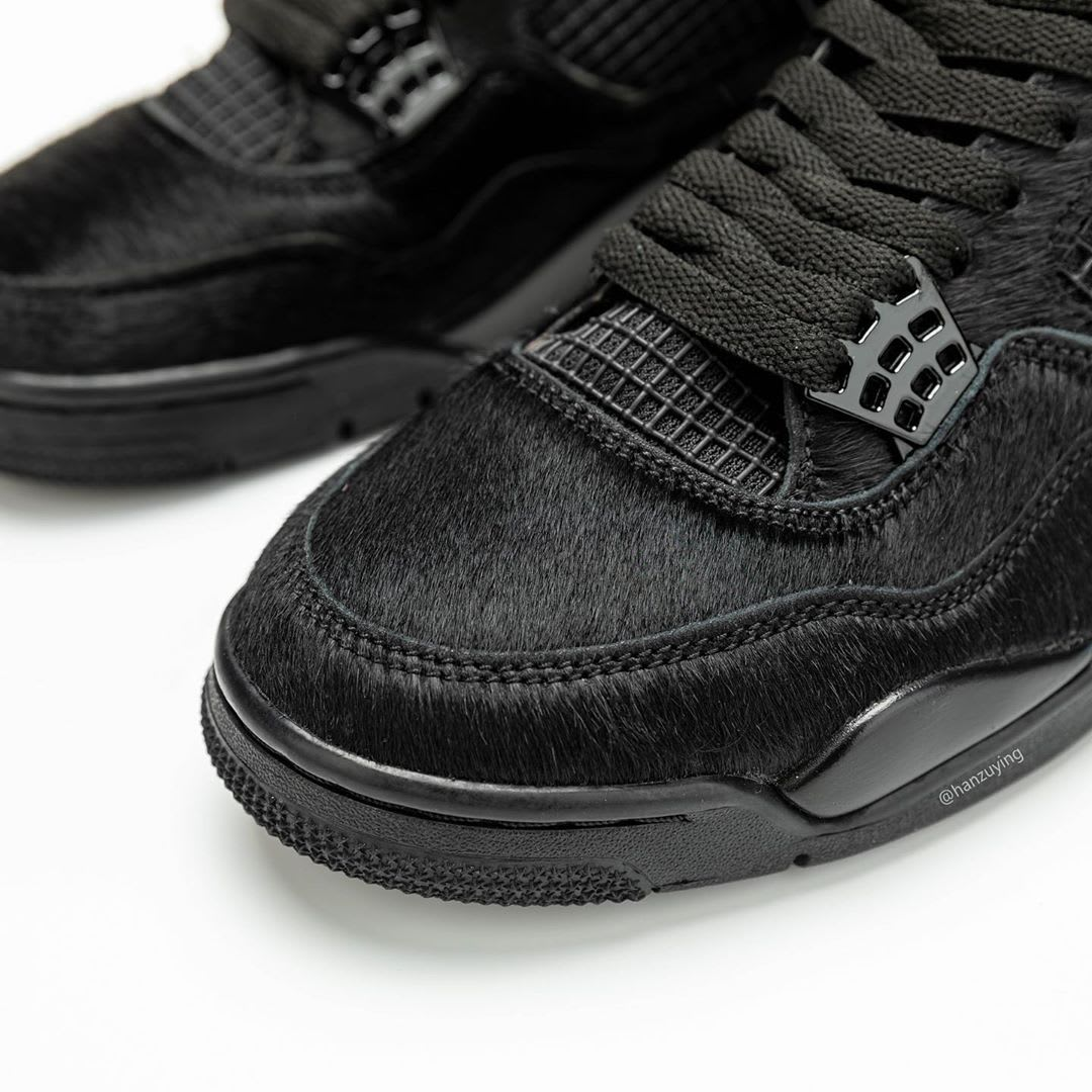 Air Jordan 4 Black Cat Pony Hair Release Date CK2925-001 Toe