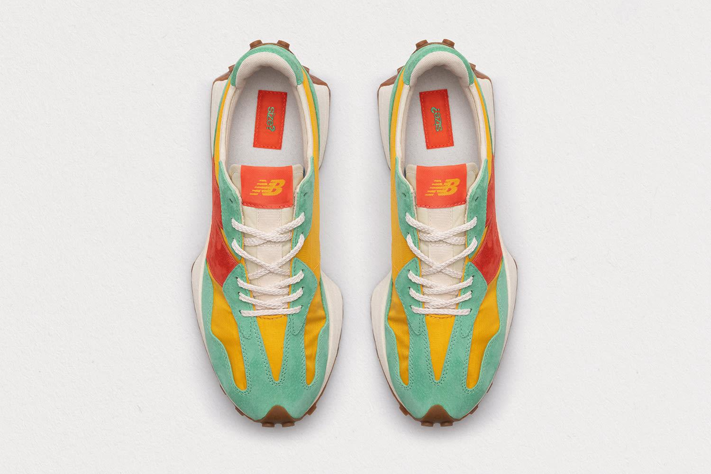 size? x New Balance 327 'yellow/green/orange' Top