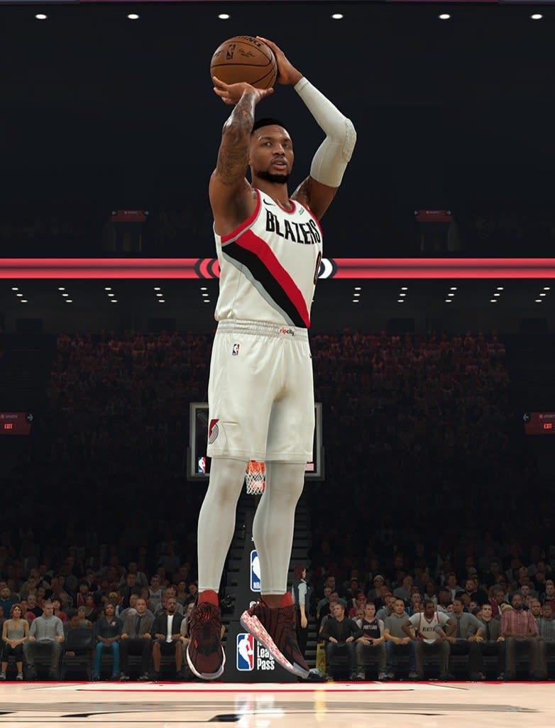 NBA 2K21 Damian Lillard Adidas Dame 7 'I Am My Own Fan'