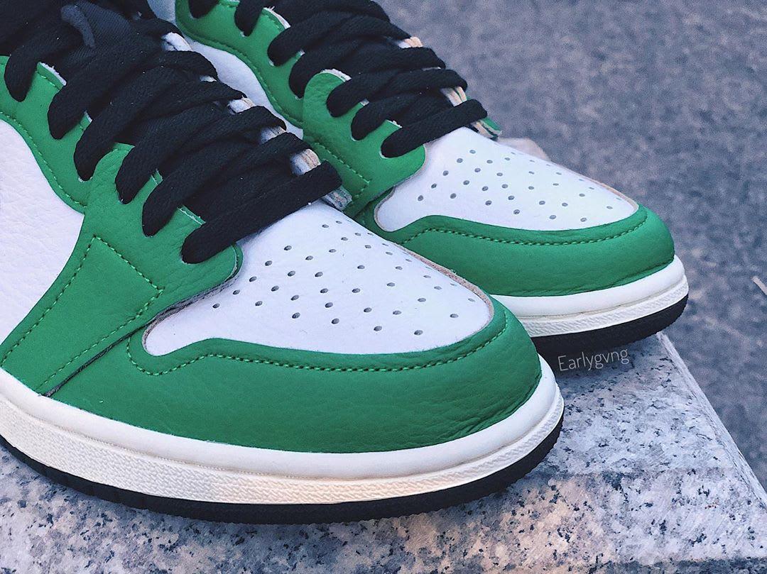 Air Jordan 1 Women's Lucky Green Release Date DB4612-300 Toe