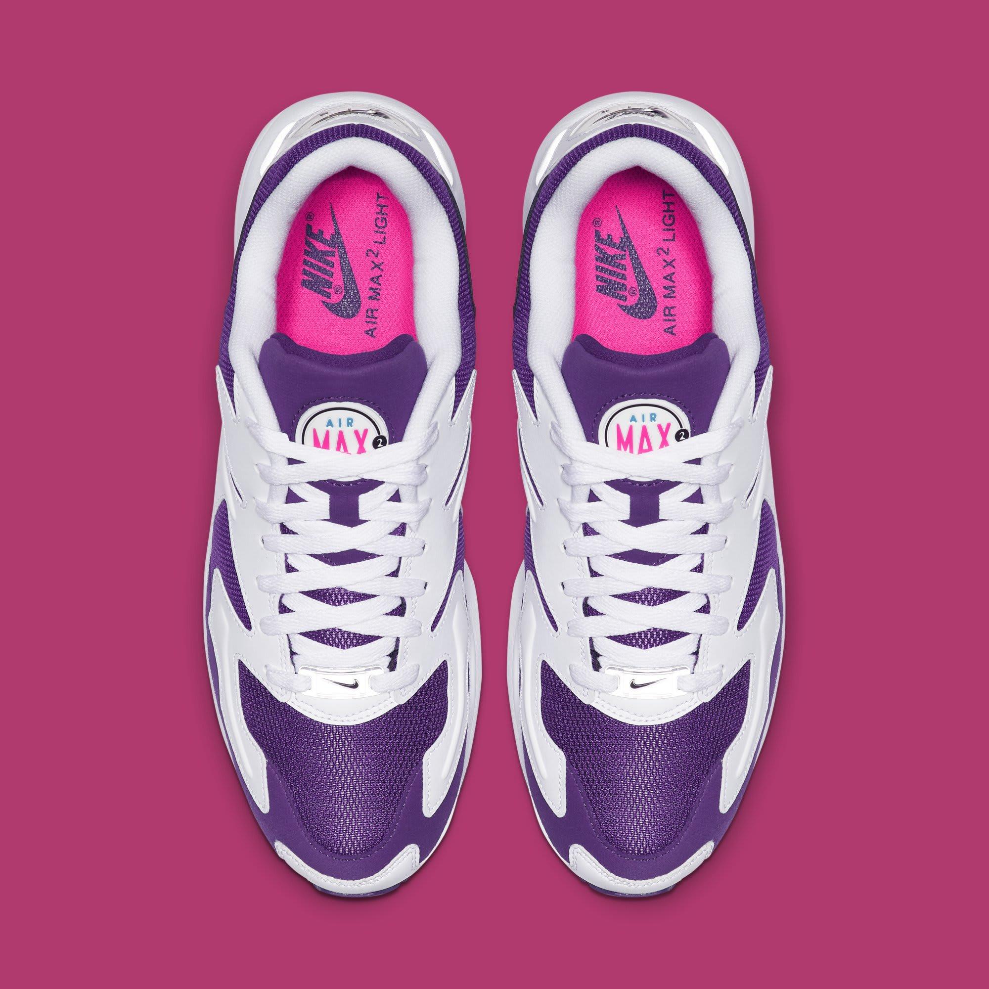 2168e04ad11 Image via Nike Nike Air Max2 Light  White Court Purple-Hyper Pink   AO1741-103