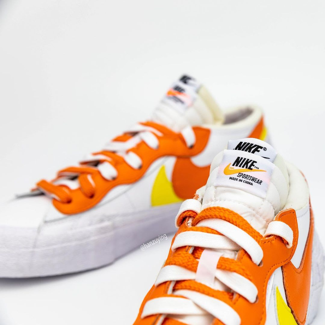 Sacai x Nike Blazer Low 'Magma Orange' DD1877-100 Tongue