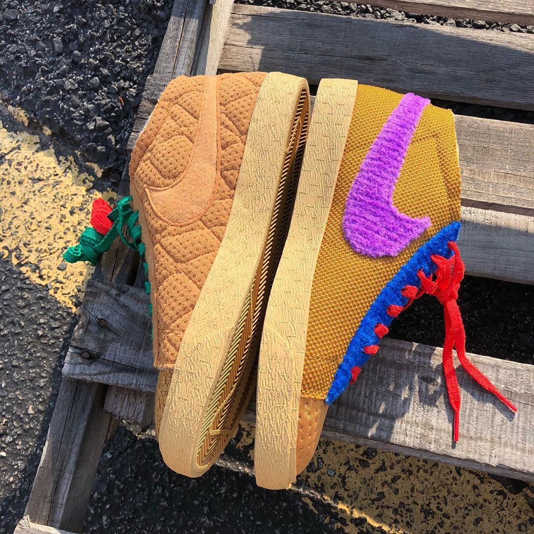 CPFM x Nike Blazer Mid By You 'Sponge' (Medial)