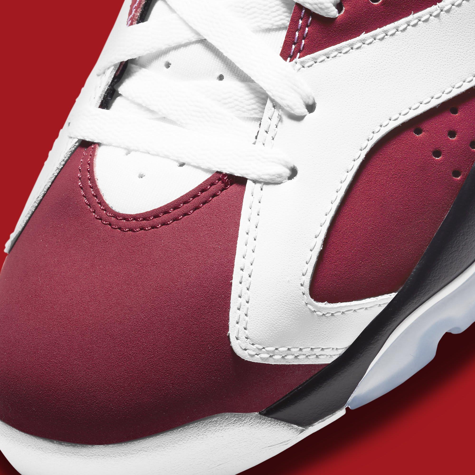 Air Jordan 6 Retro 'Carmine' 2021 CT8529-106 Toe