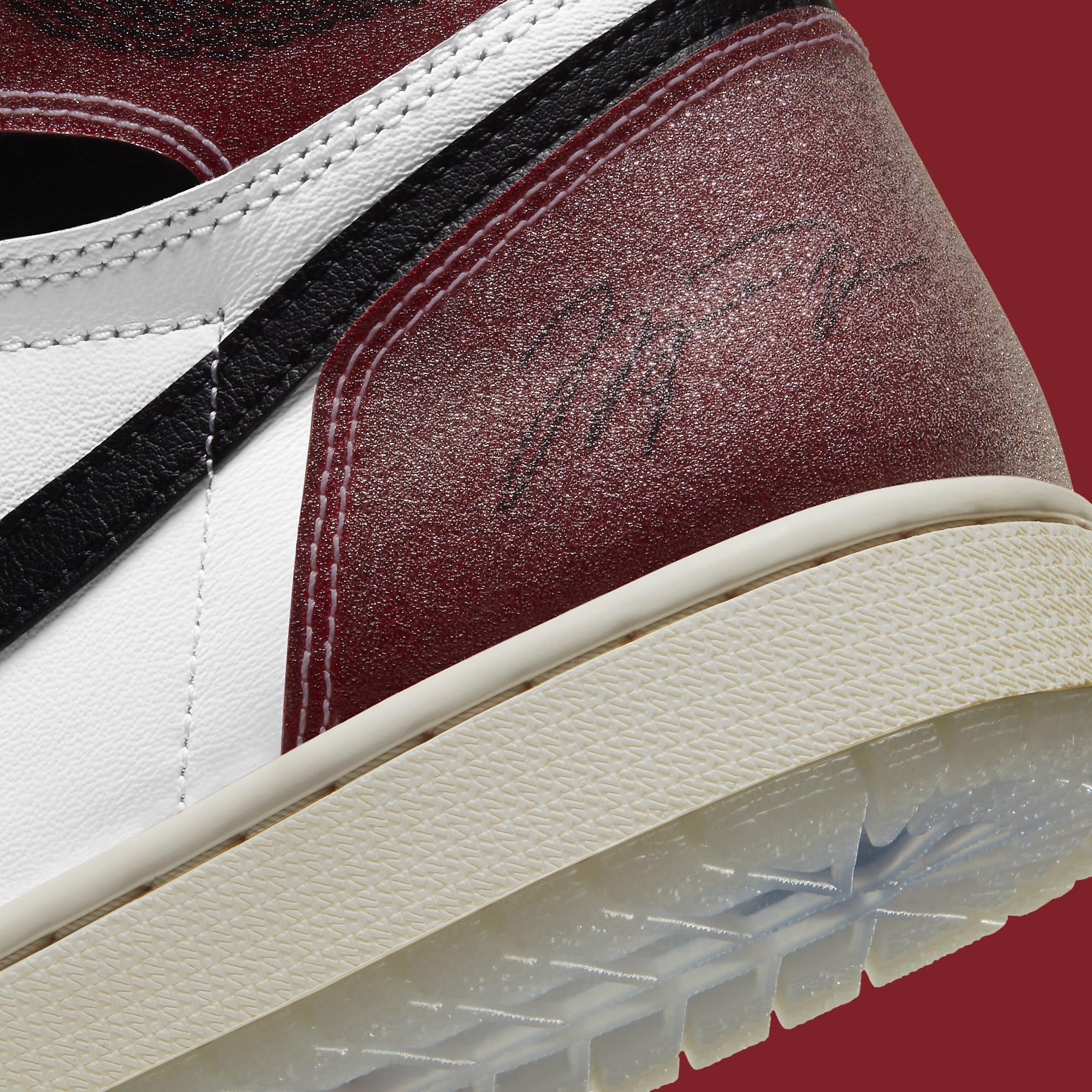 Trophy Room x Air Jordan 1 Release Date DA2728-100 Heel Detail