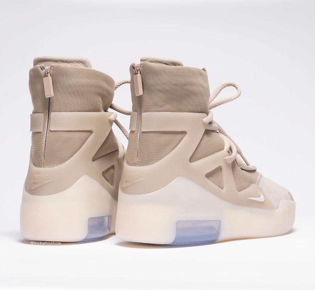 Nike Air Fear of God 1 Oatmeal Release Date AR4237-900 Heel