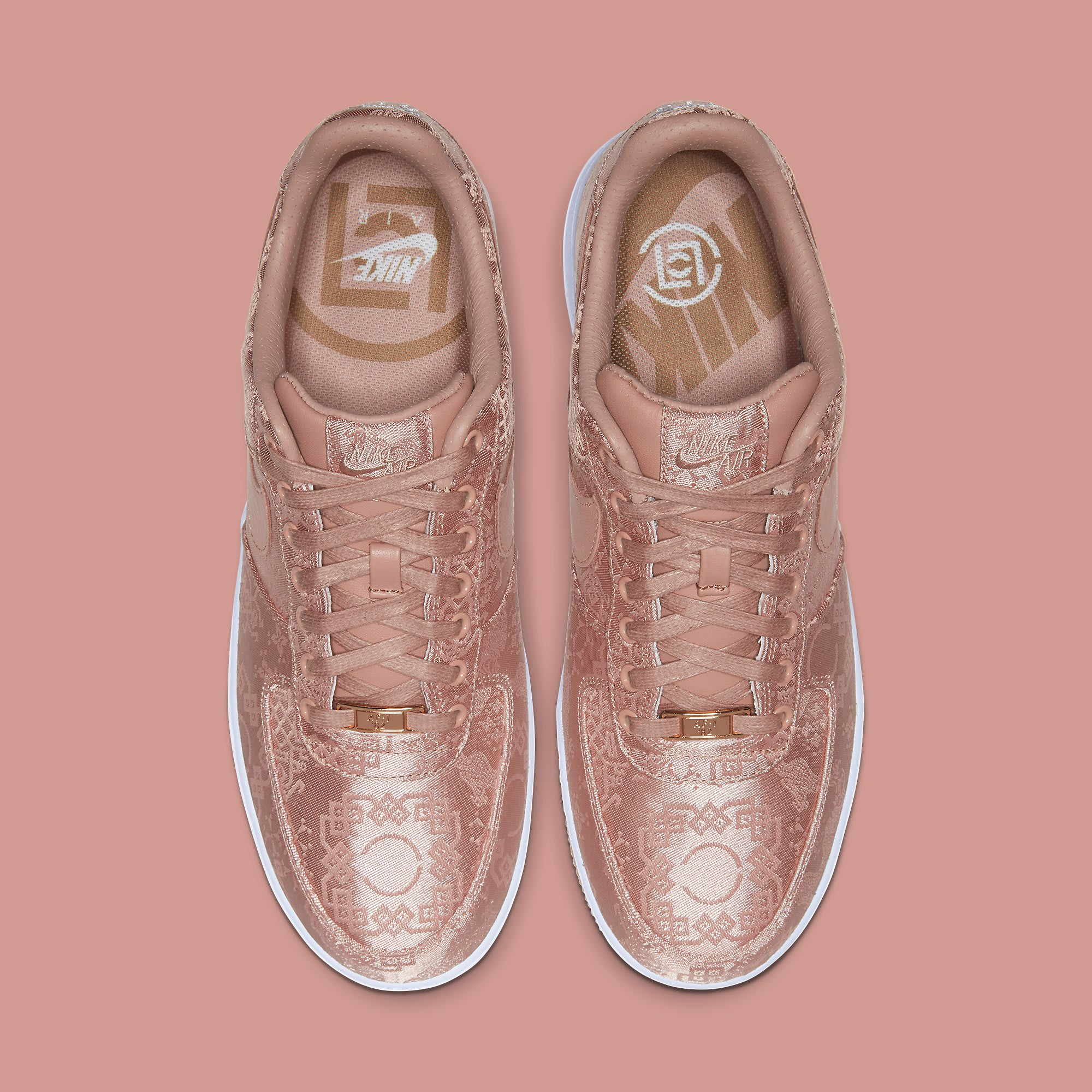 Clot x Nike Air Force 1 Rose Gold Release Date CJ5290-600 Top