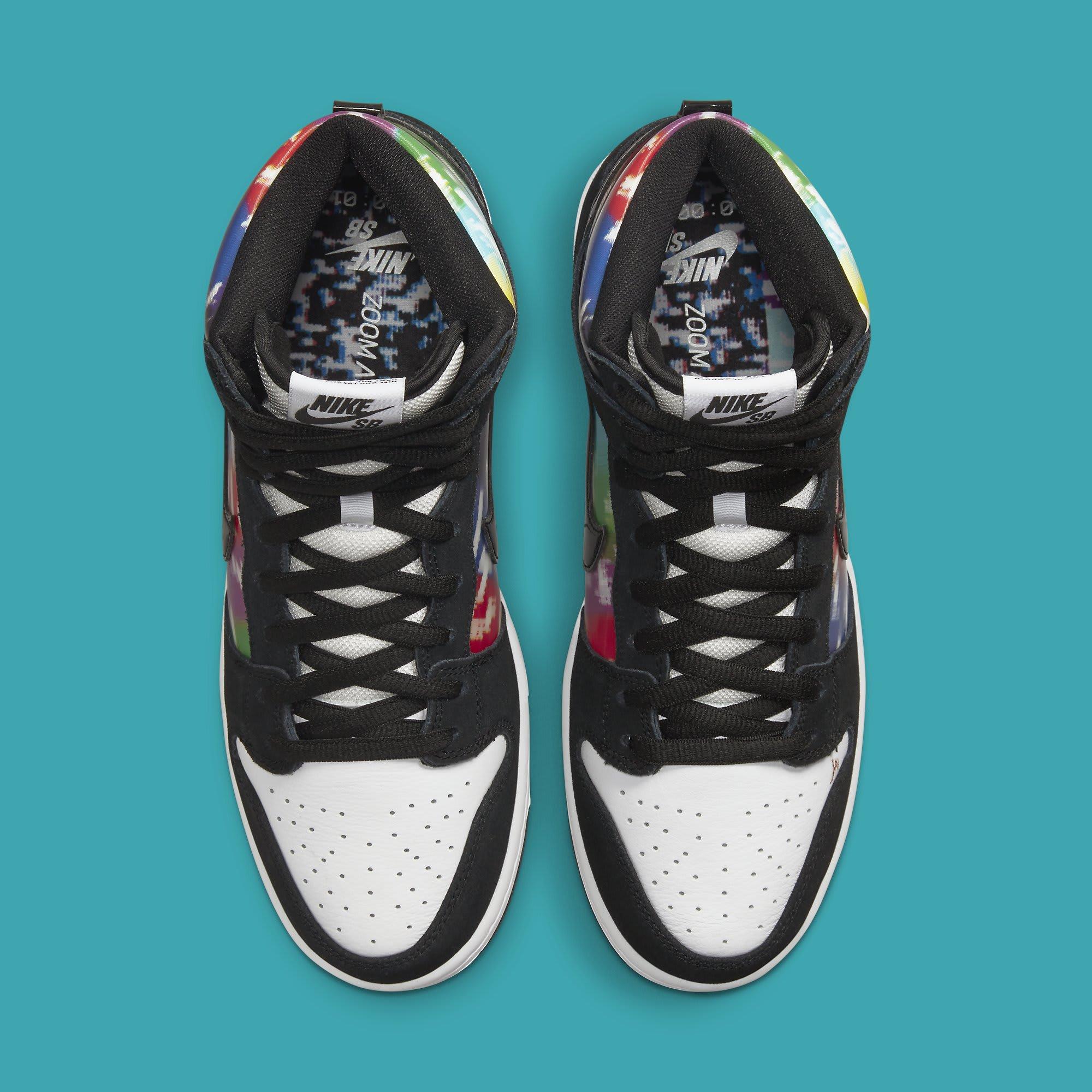 Nike SB Dunk High TV Signal Release Date CZ2253-100 Top