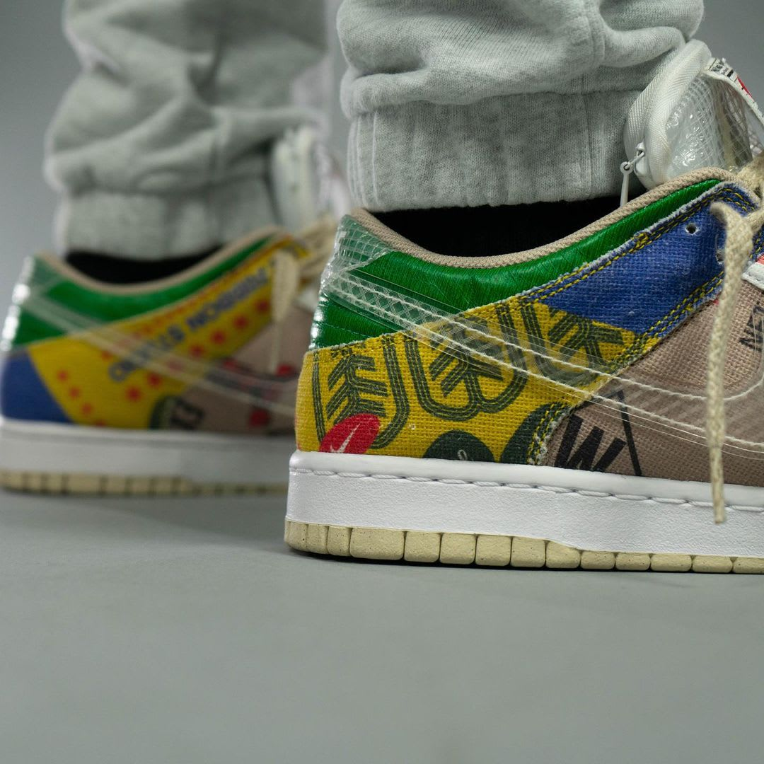 Nike Dunk Low Thank You For Caring Release Date DA6125-900 Heel Detail
