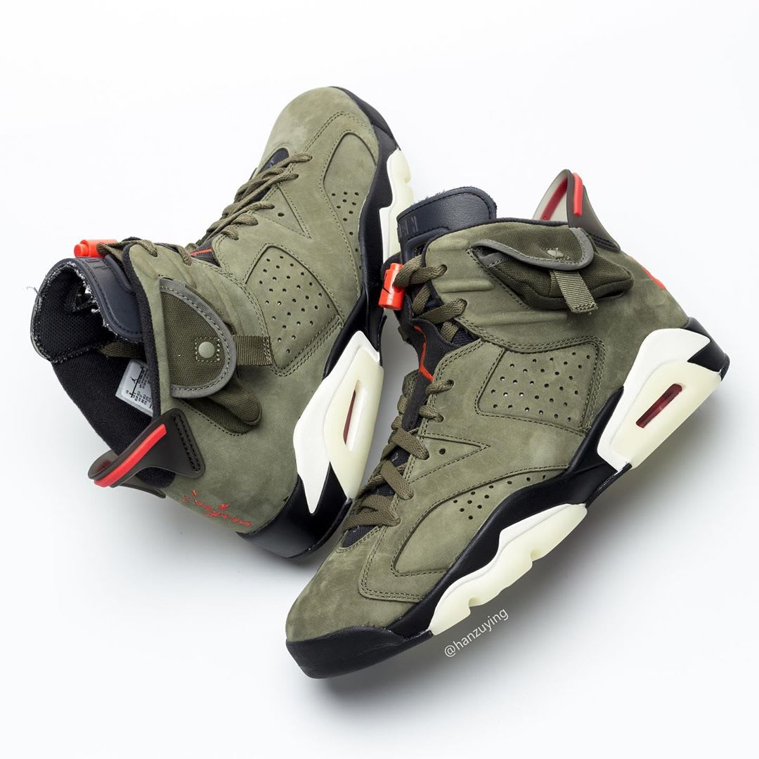 Travis Scott Air Jordan 6 Release date CN1084-200 Lateral Heel