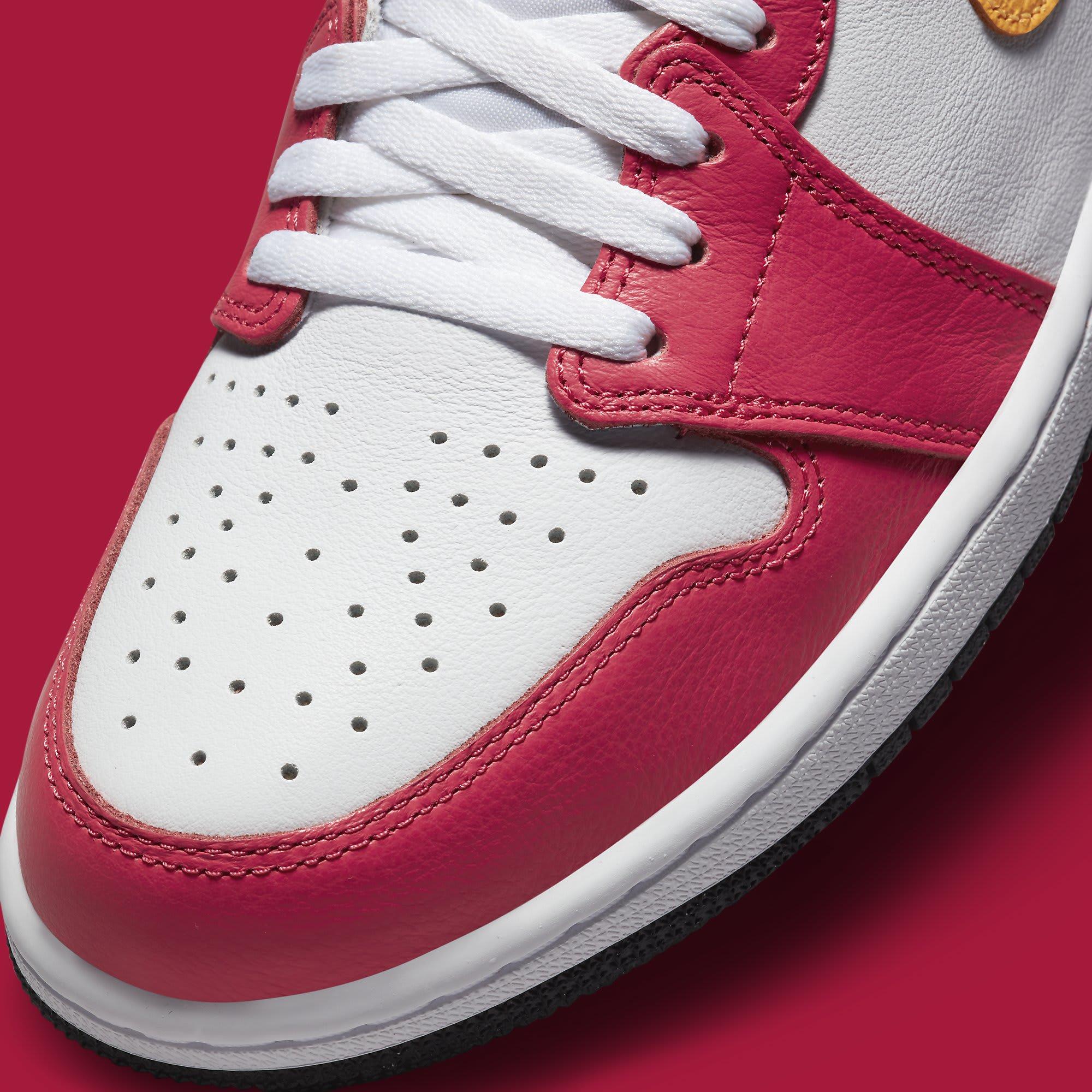 Air Jordan 1 Light Fusion Red Release Date 555088-603 Toe Detail