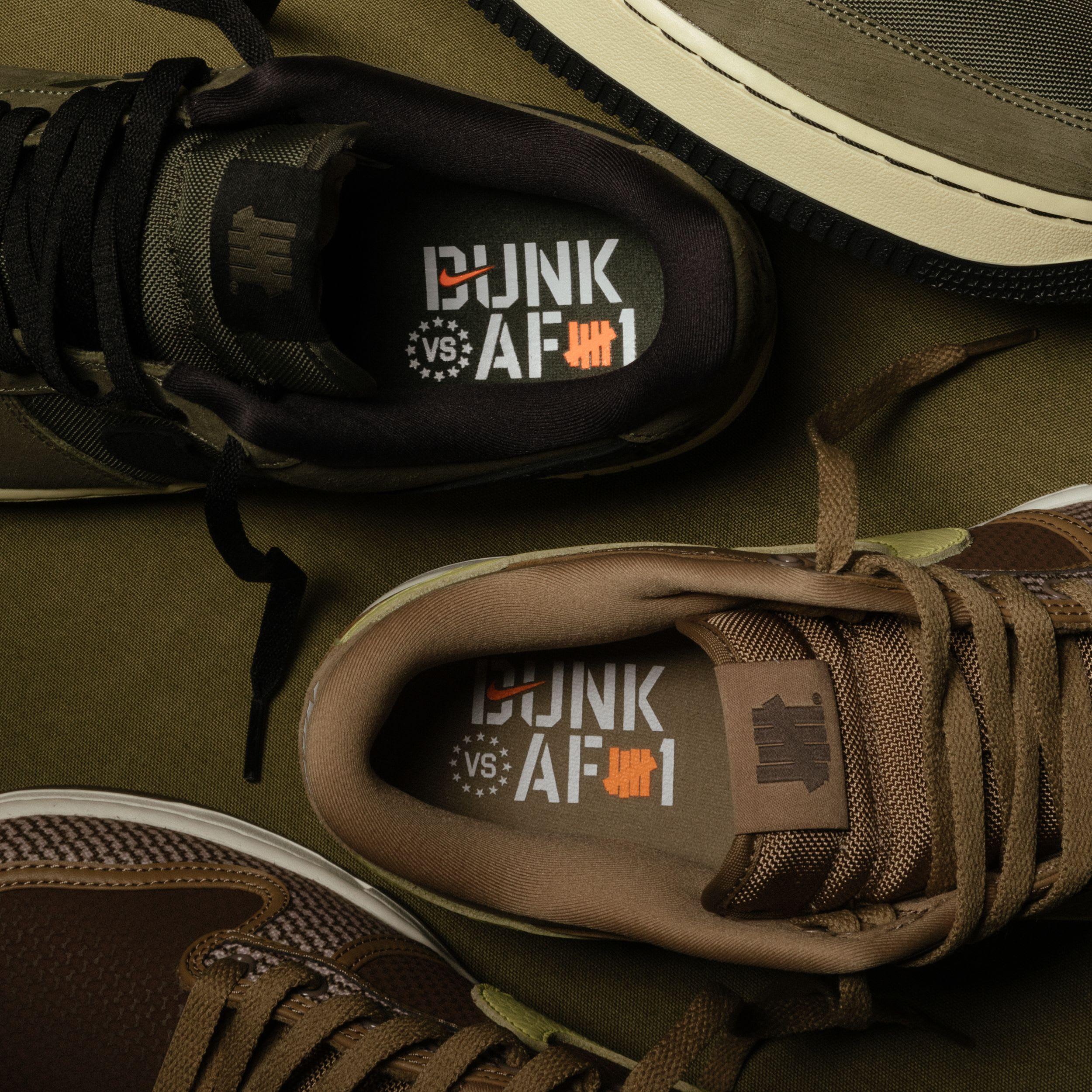 Invaincu x Nike Dunk contre AF1 Lead