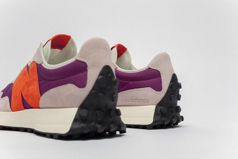 size? x New Balance 327 'purple/grey/orange' Heel