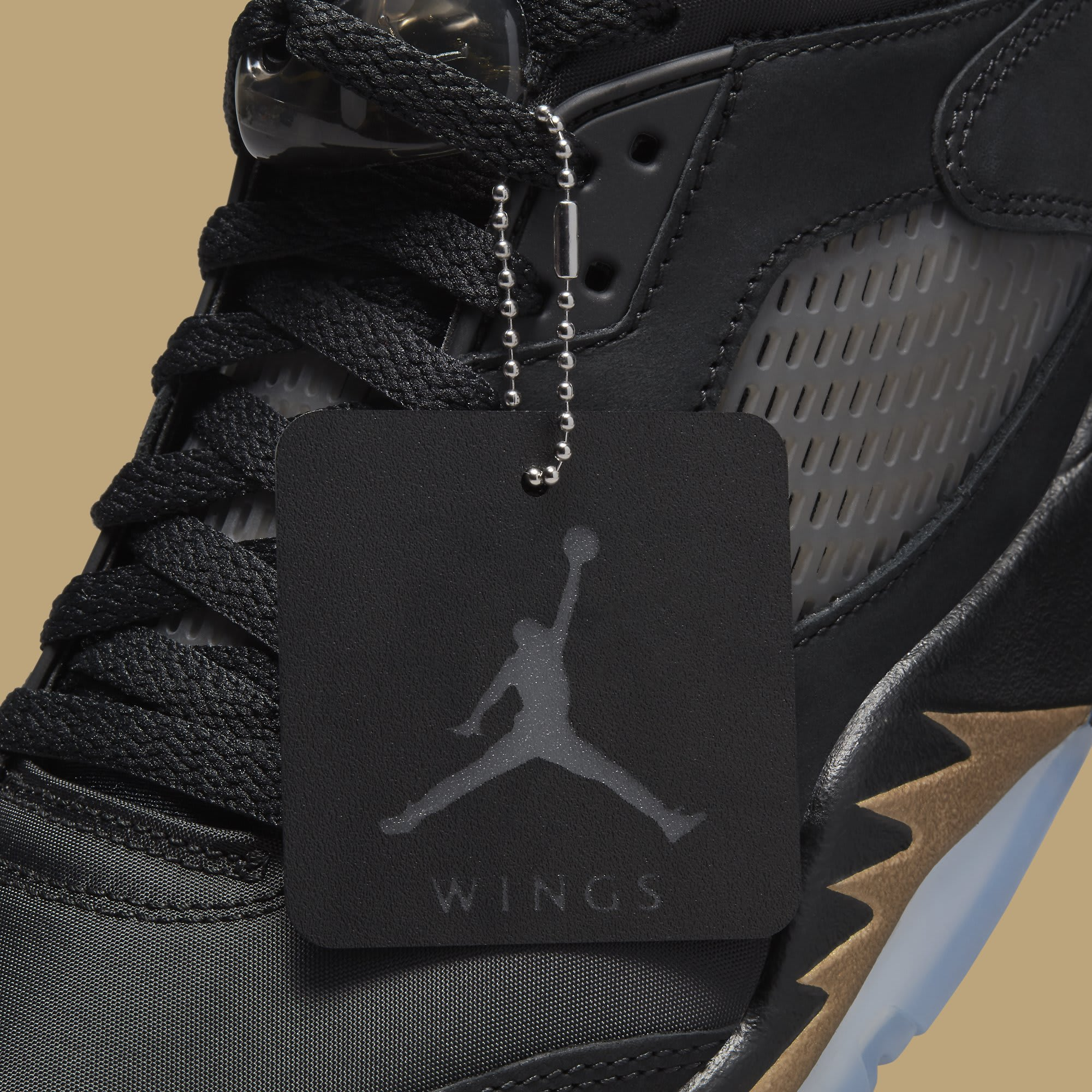 Air Jordan 5 Retro Low Wings 'Class of 2020-21' DJ1094-001 Hangtag