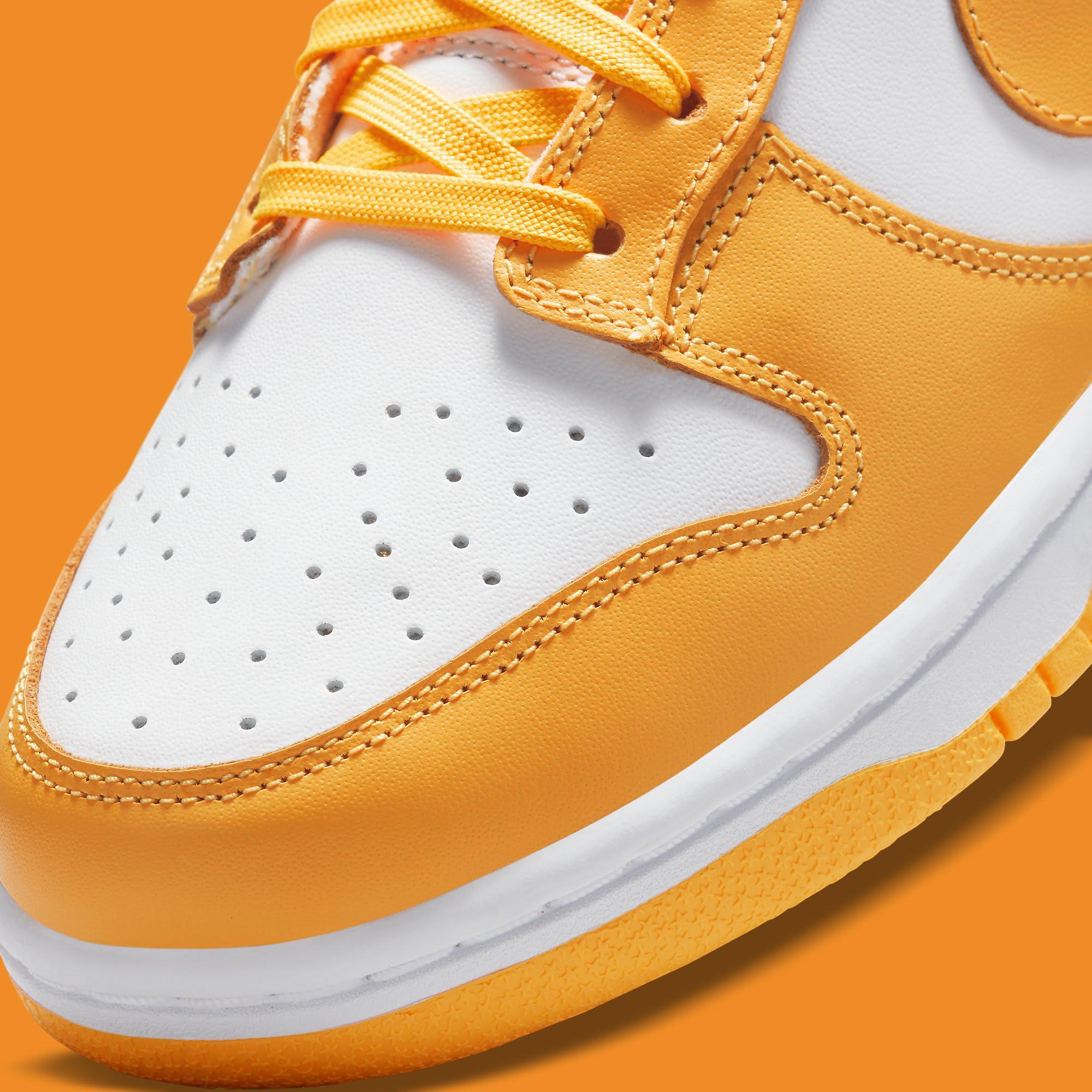 Nike Dunk Low Laser Orange Release Date DD1503-800 Toe Detail