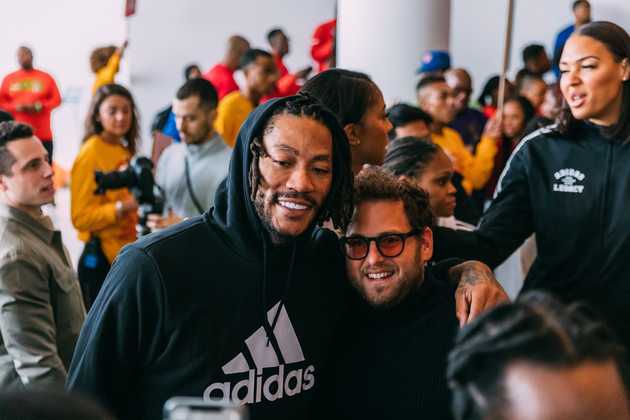 Adidas World's Best Career Day Derrick Rose Jonah Hill