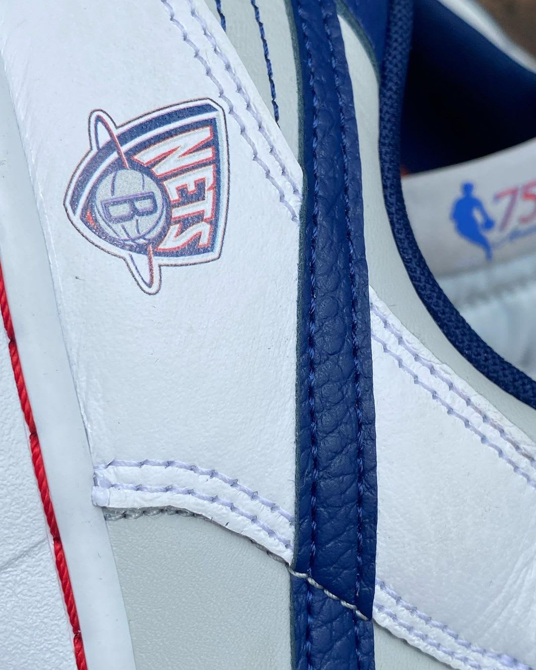 NBA x Nike Dunk Low '75th Anniversary' Brooklyn Nets Logo