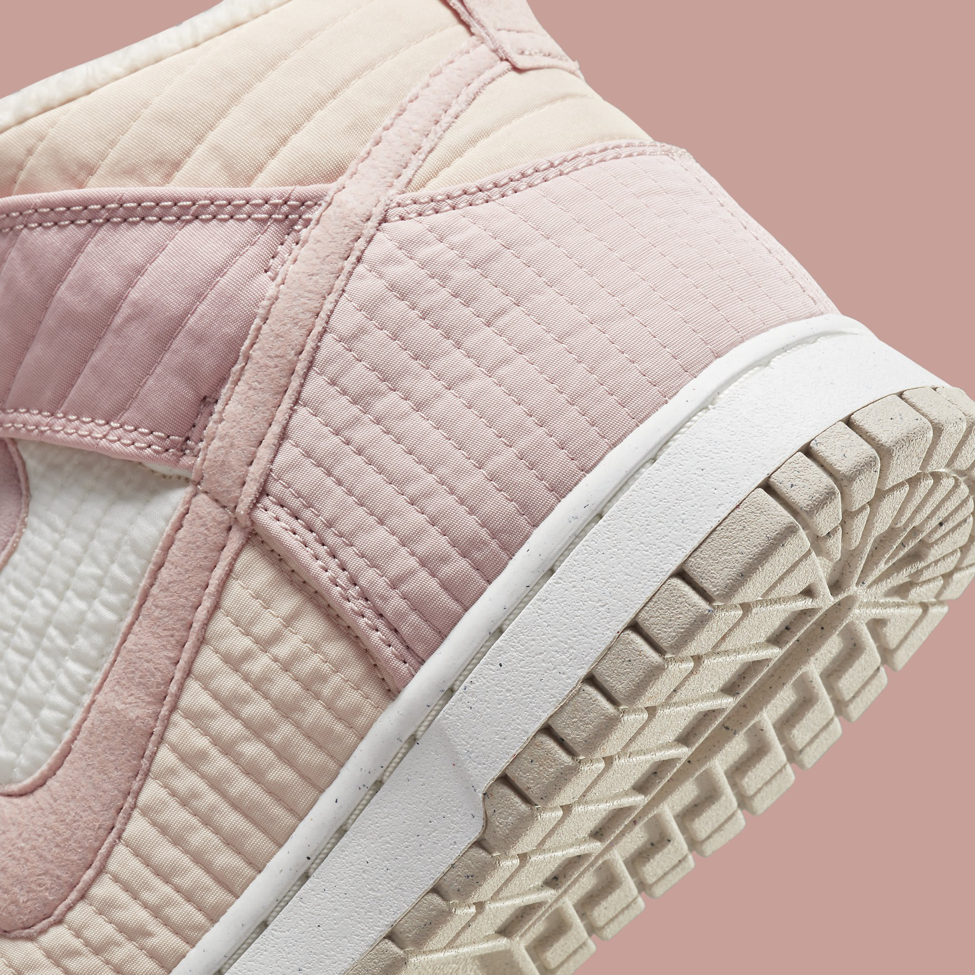 Nike Dunk High Toasty Pink DN9909-200 Release Date Heel Detail