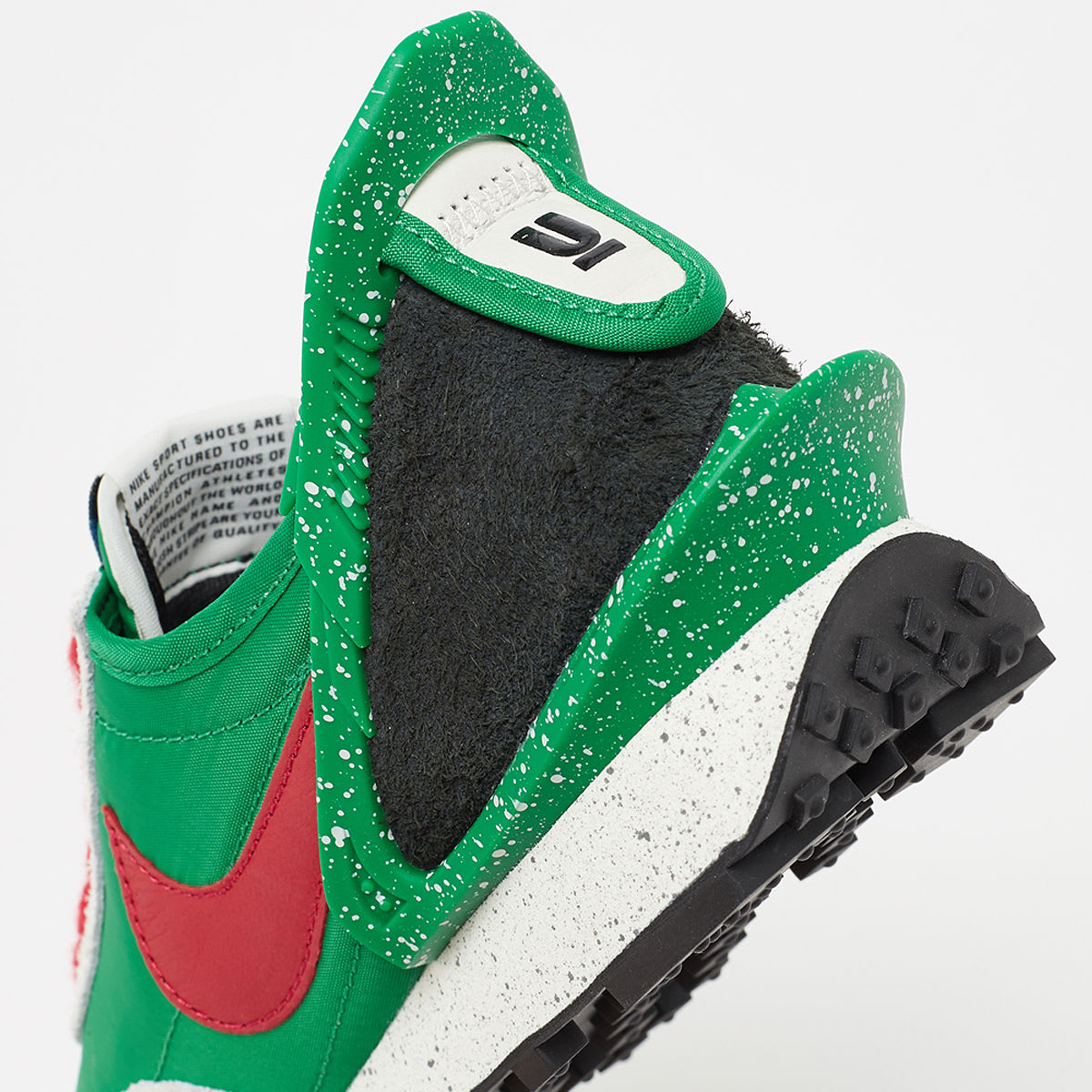 Undercover x Nike Daybreak 'Lucky Green' CJ3295-300 Heel
