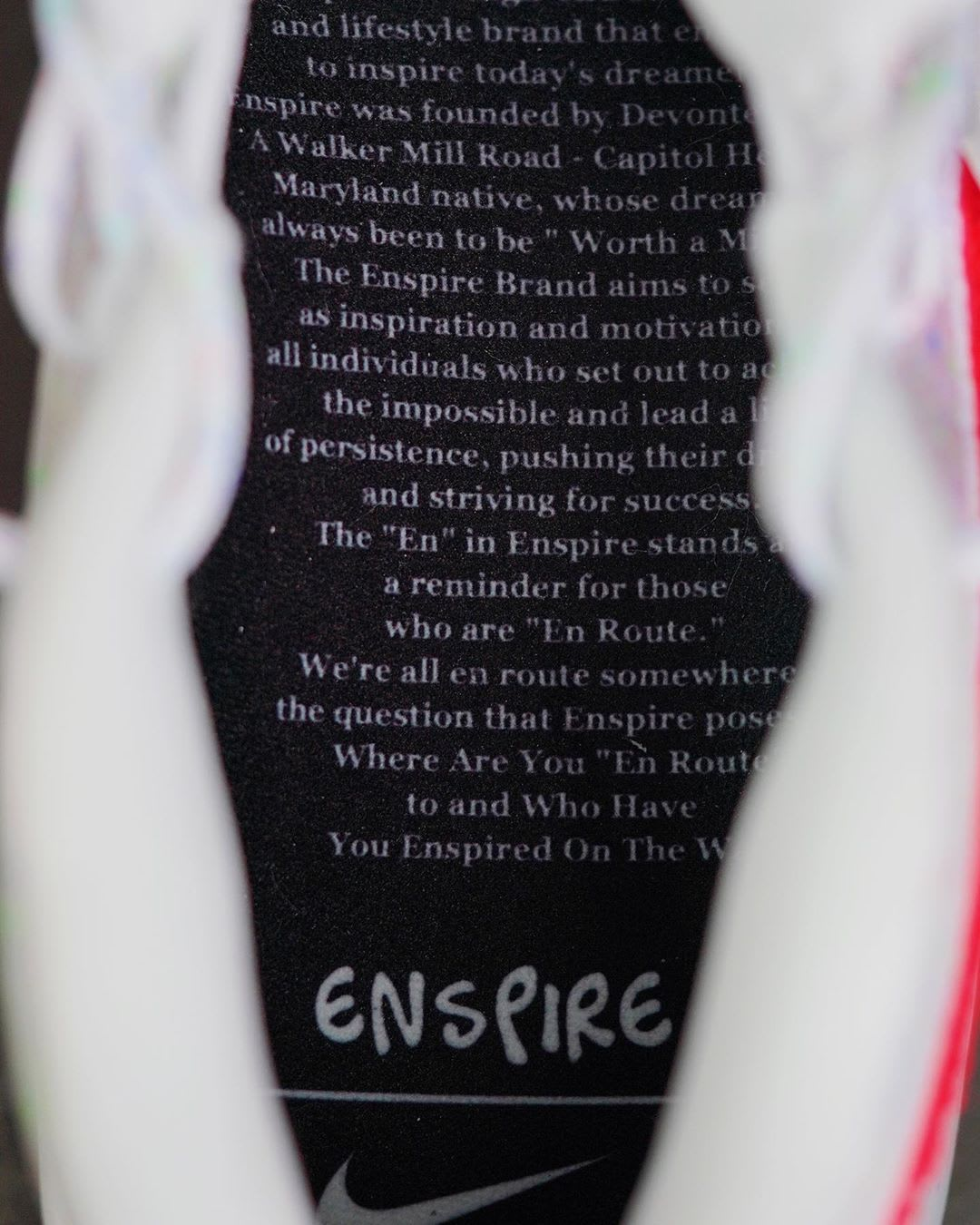 Enspire x Nike KD 12 White Release Date Insole