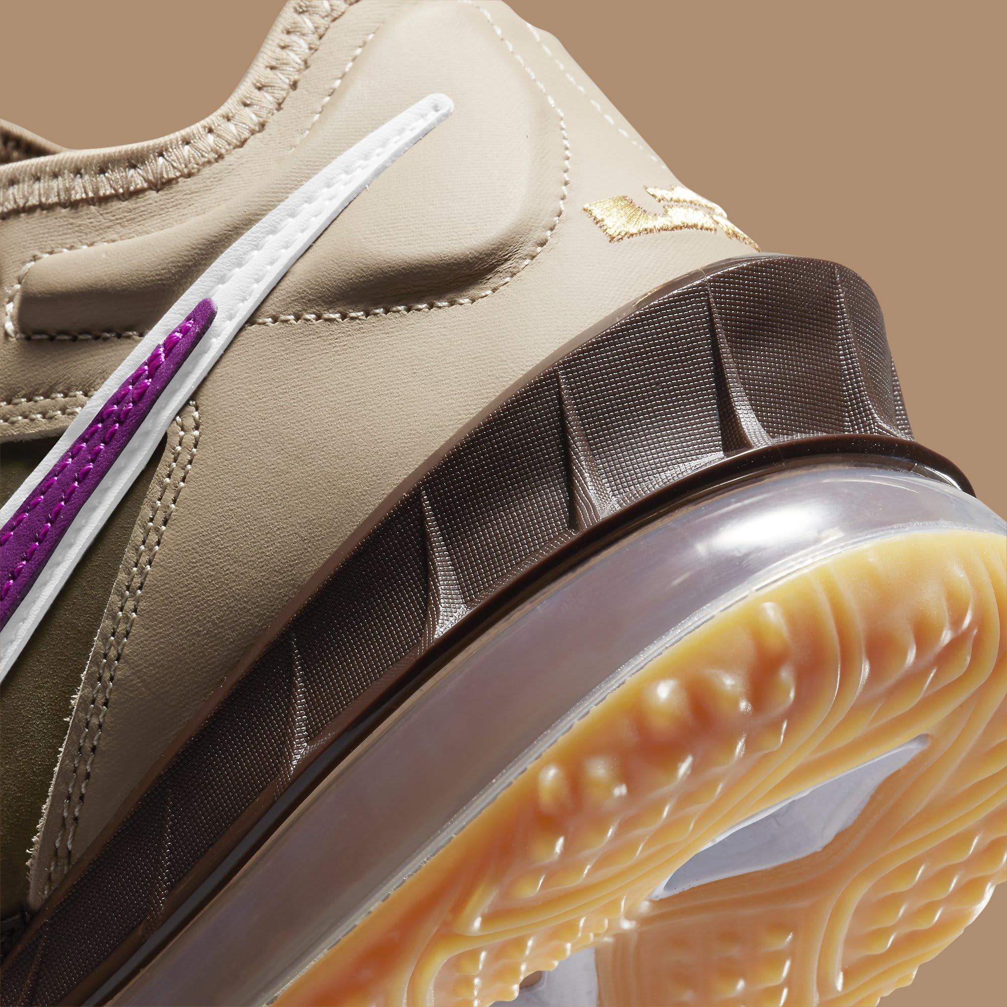 Atmos x Nike LeBron 18 Low 'Viotech' CW5635-200 Heel