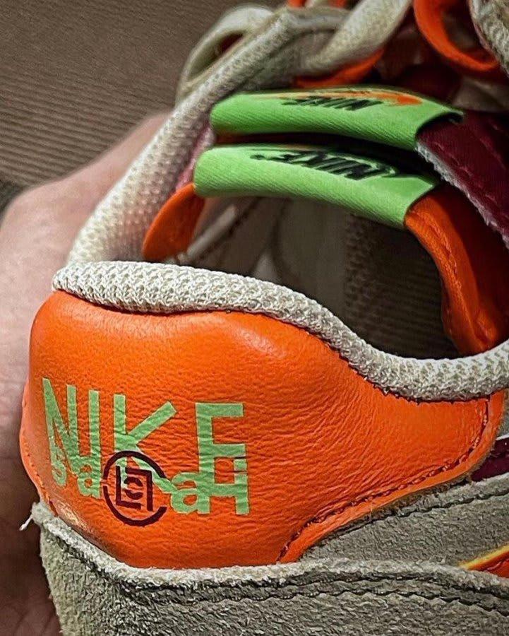 Clot x Sacai x Nike LD Waffle Collab Heel