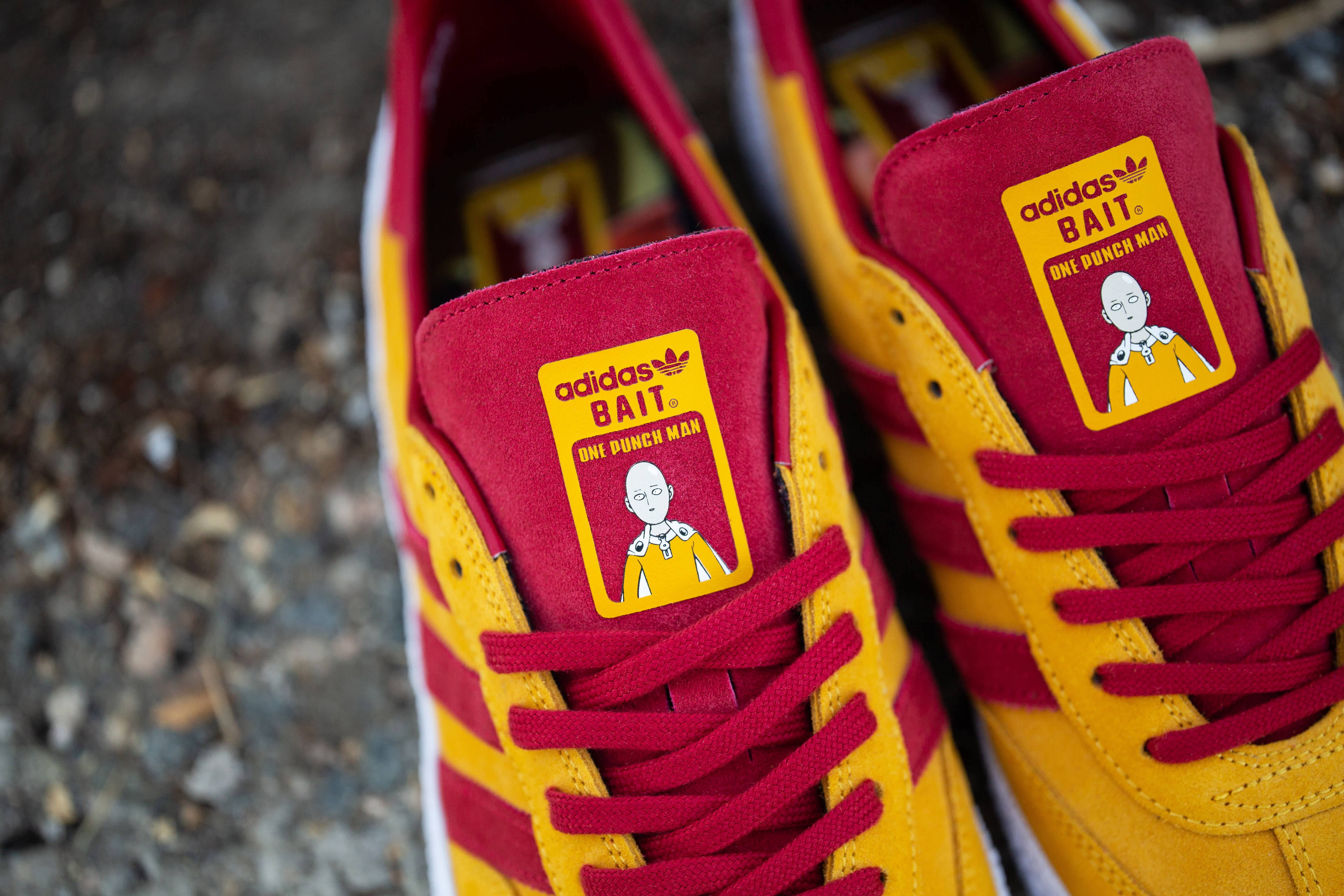 Bait x One Punch Man x Adidas Montreal Tongue