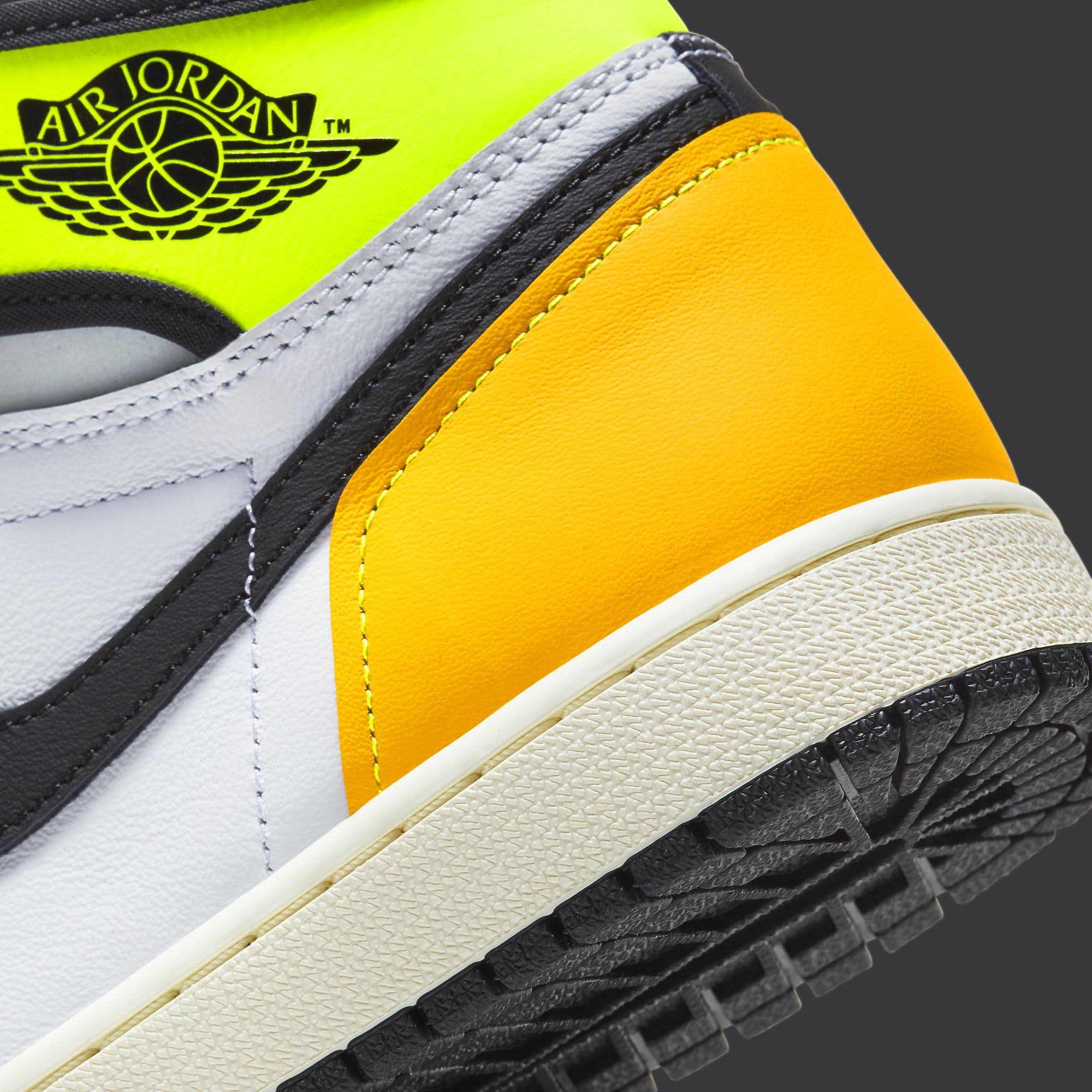 Air Jordan 1 Volt Gold Release Date 555088-118 Heel Detail