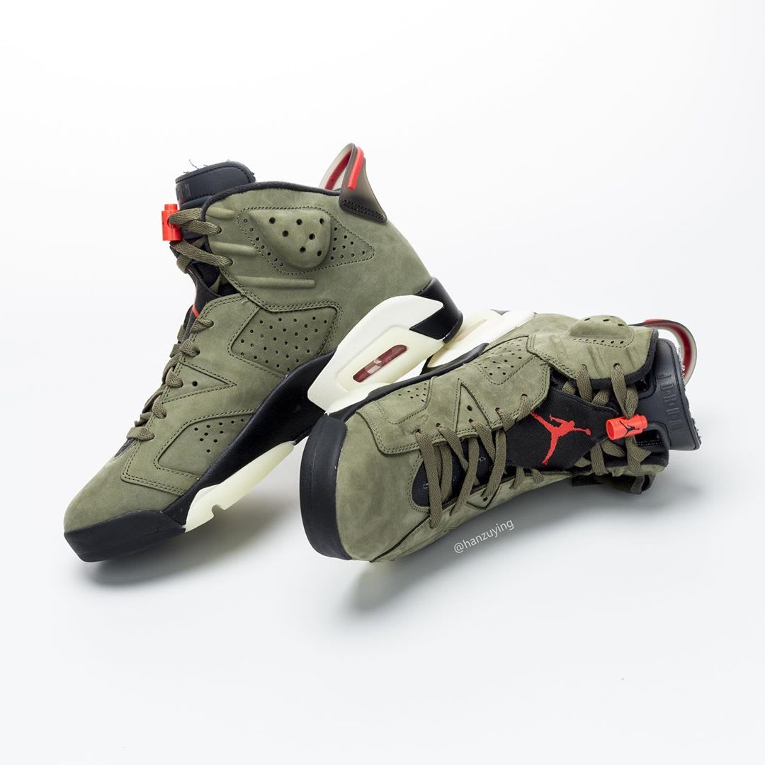 Travis Scott Air Jordan 6 Release date CN1084-200 Medial