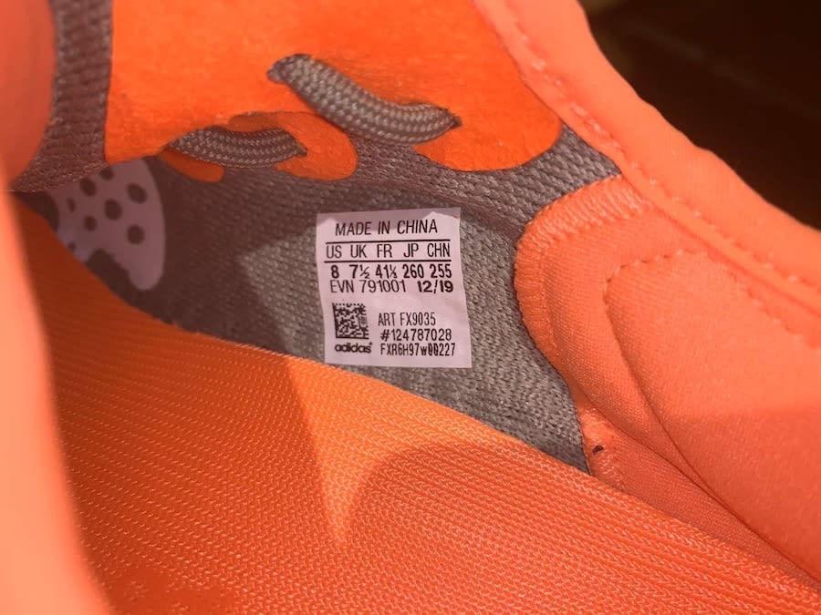 Adidas yeezy 350 V2 desert sage release date fx9035 tag