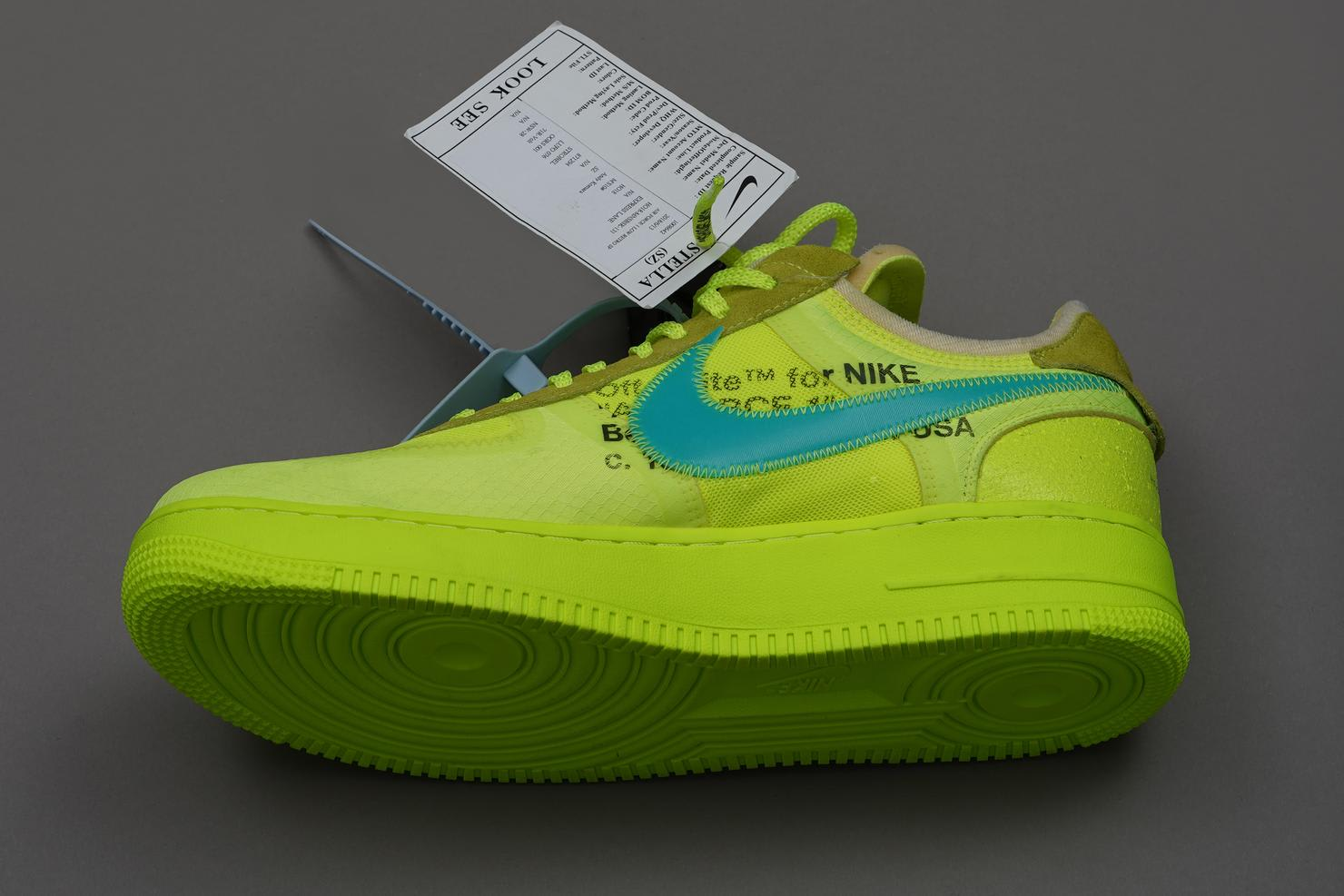 Off-White x Nike Air Force 1 Low 'Volt' Prototype