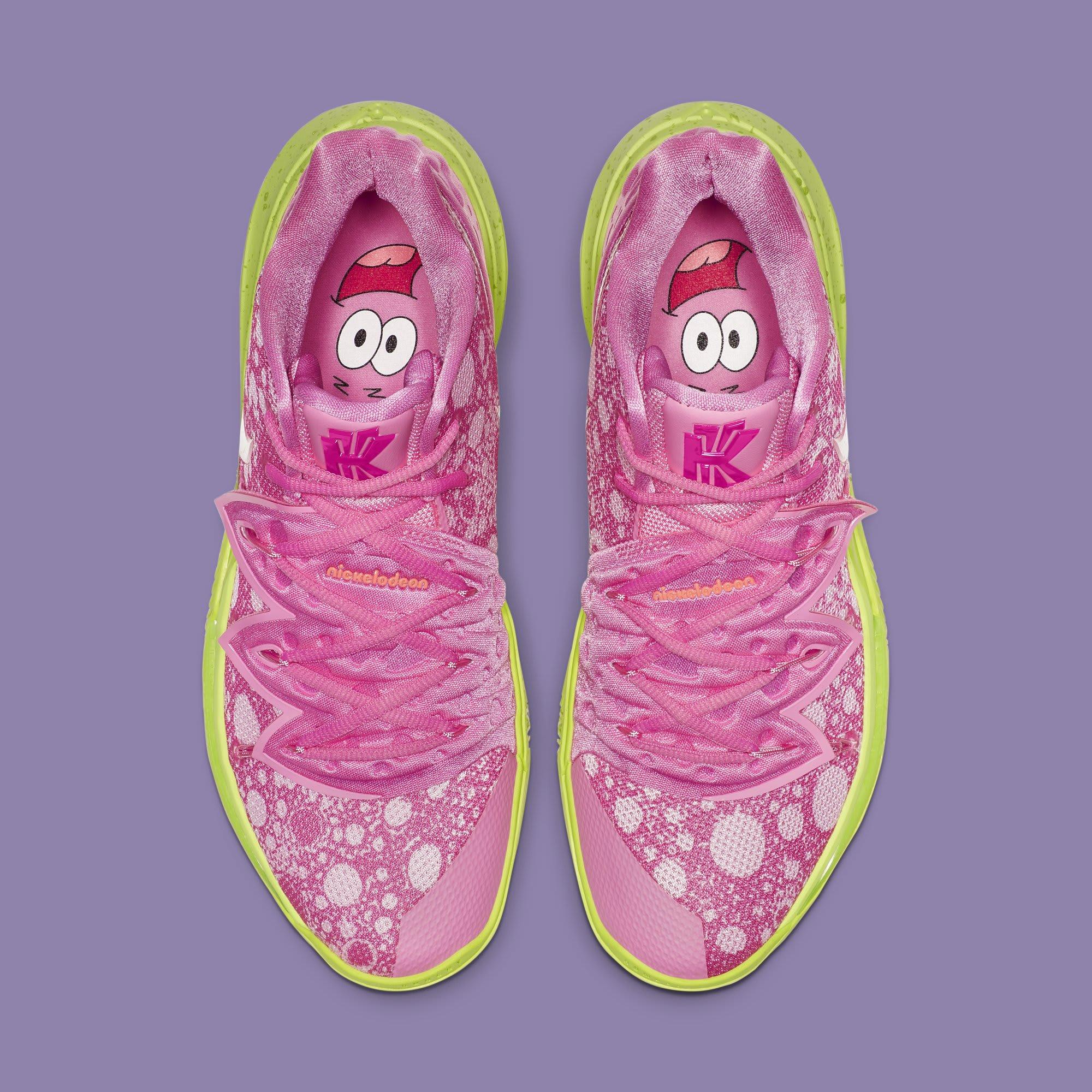 'SpongeBob SquarePants' x Nike Kyrie 5 'Patrick Star' CJ6951-600 (Top)