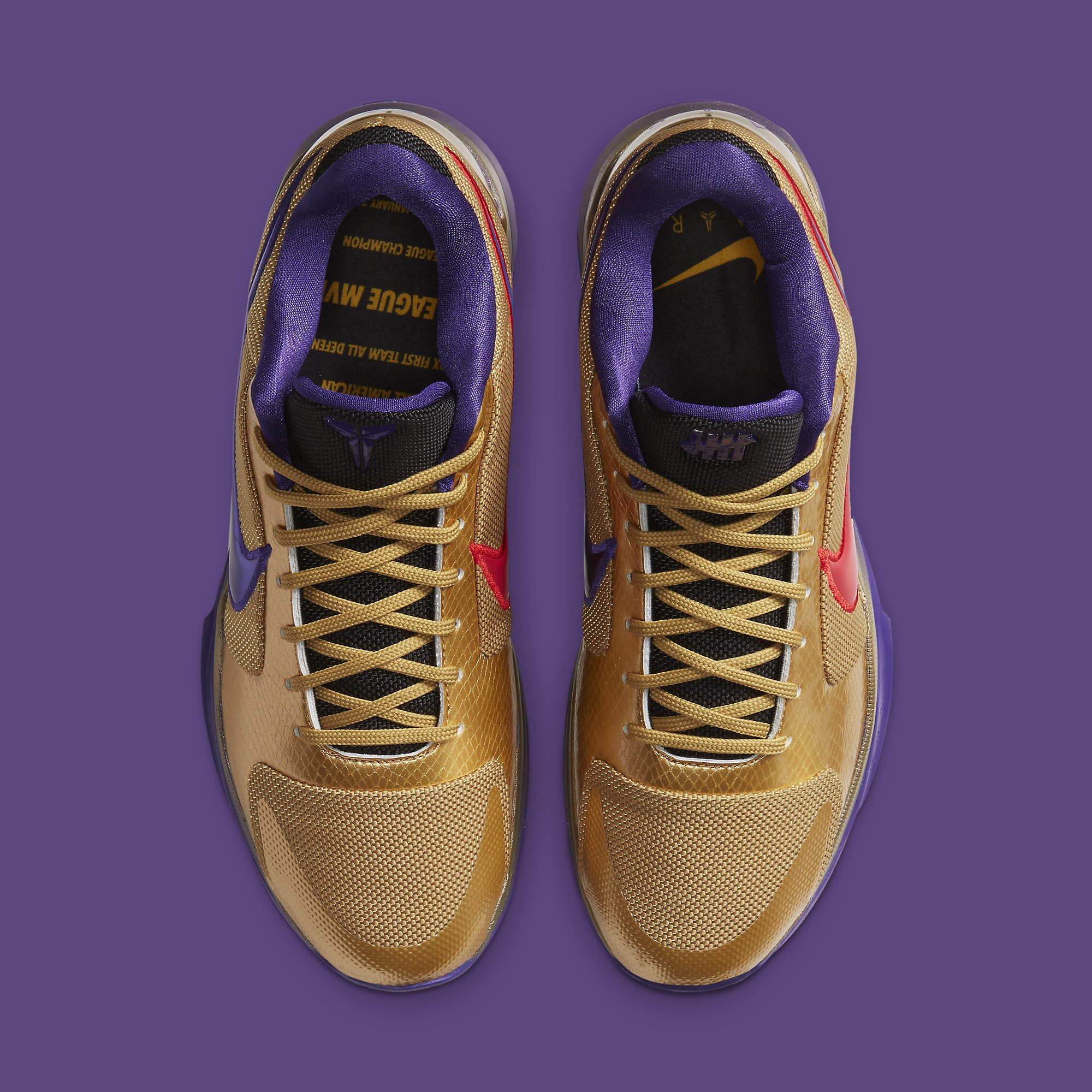 Undefeated x Nike Kobe 5 Gold Hall of Fame Release date DA6809-700 Top