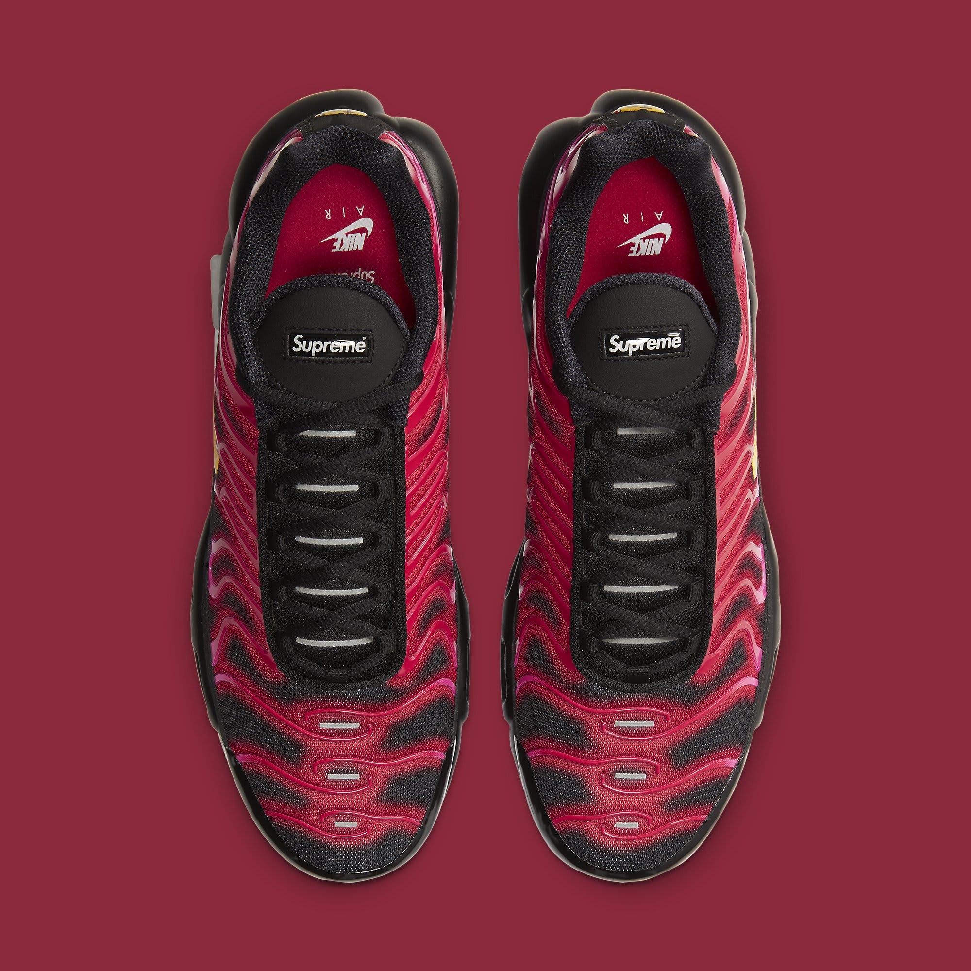 Supreme x Nike Air Max Plus 'Fire Red' DA1472-600 Top