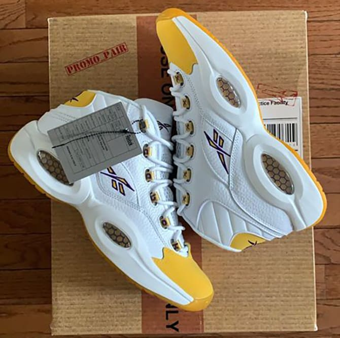 Kobe Bryant Reebok Question Yellow Lakers 3