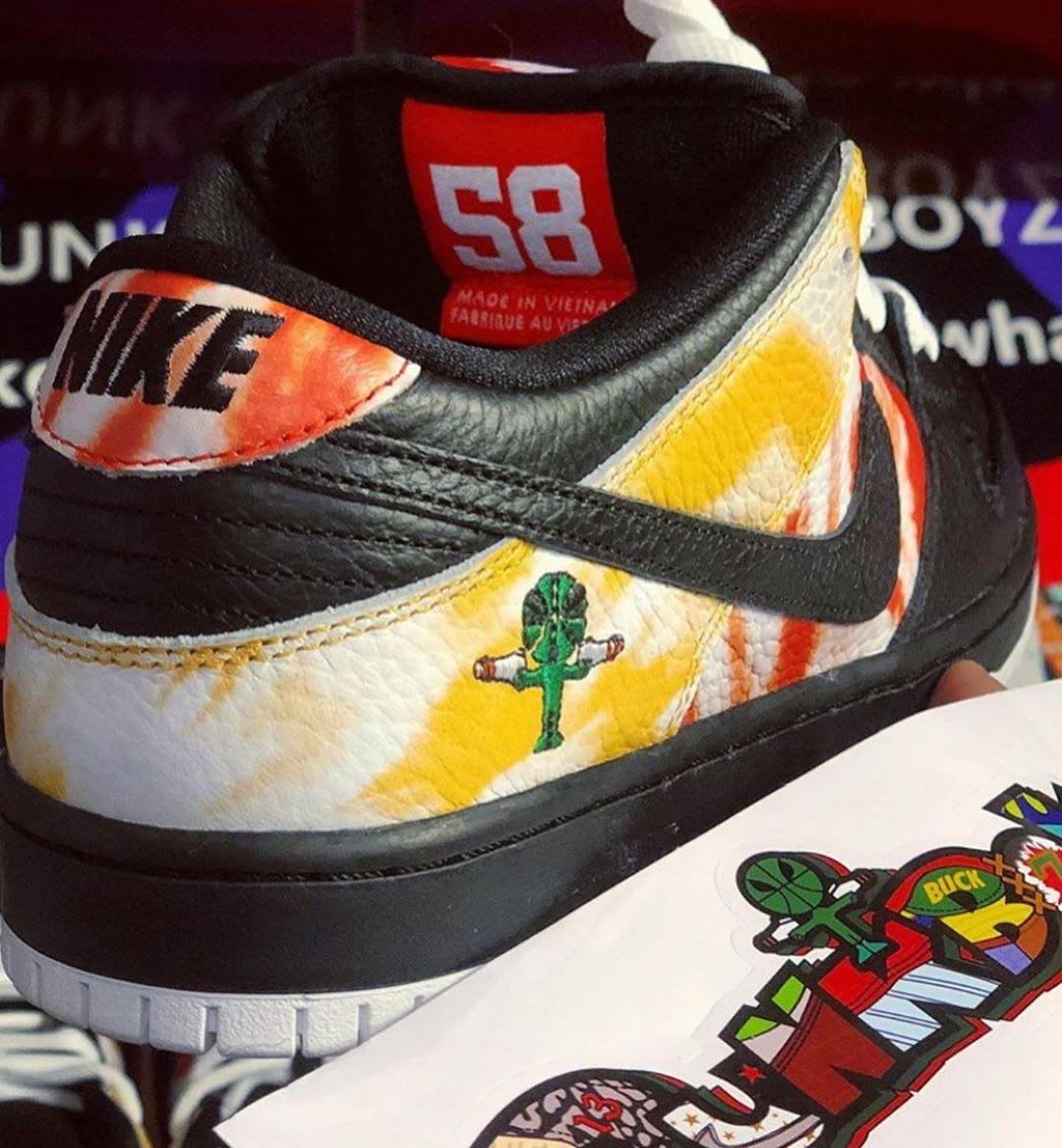 Nike SB Dunk Low 'Raygun Tie Dye' BQ6832-001 (Heel)