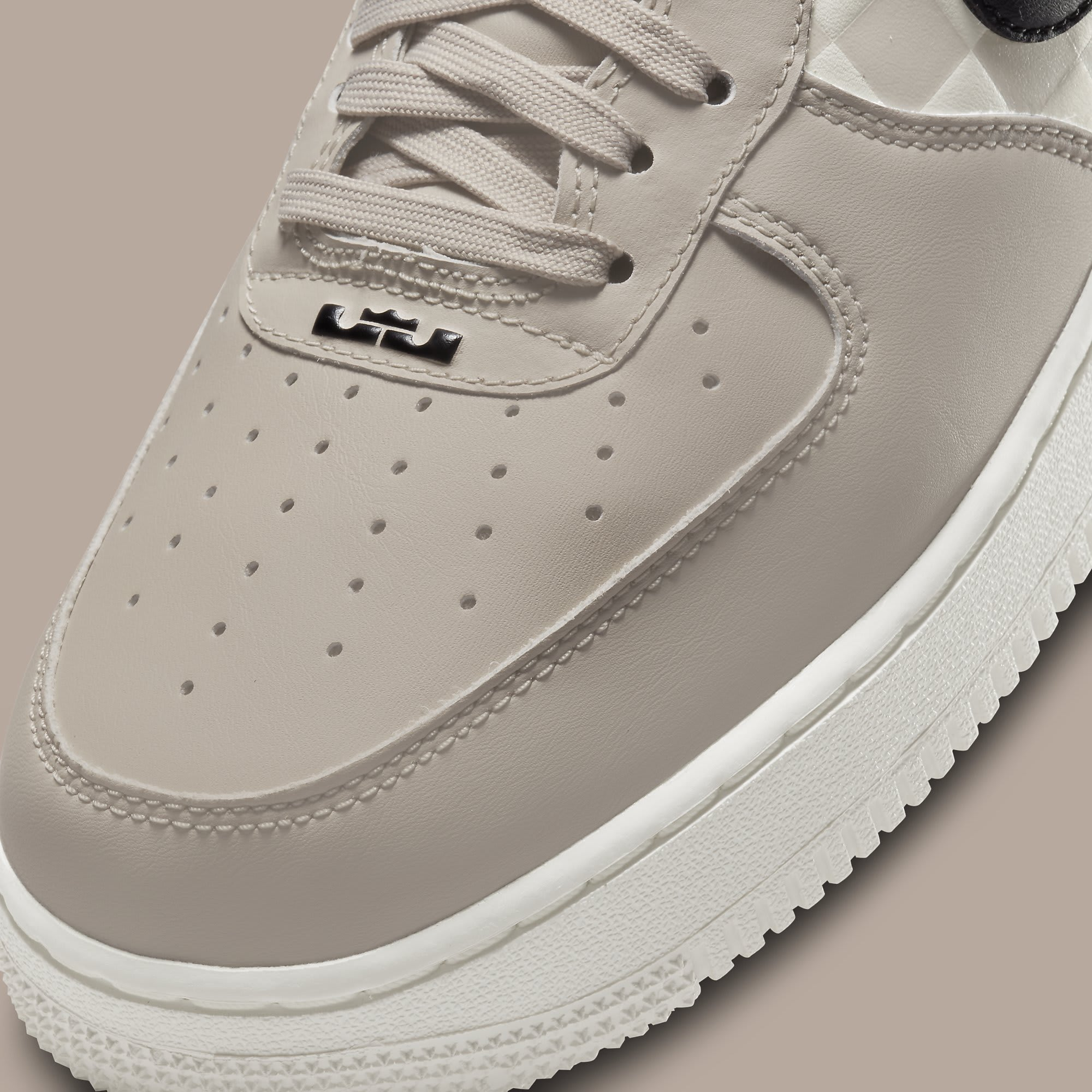 LeBron James x Nike Air Force 1 Low Strive for Greatness Release Date DC8877-200 Toe Detail