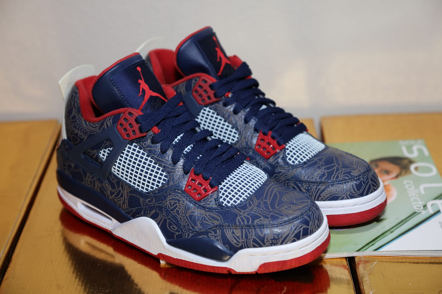 Air Jordan 4 Carmelo Anthony Olympic Laser PE