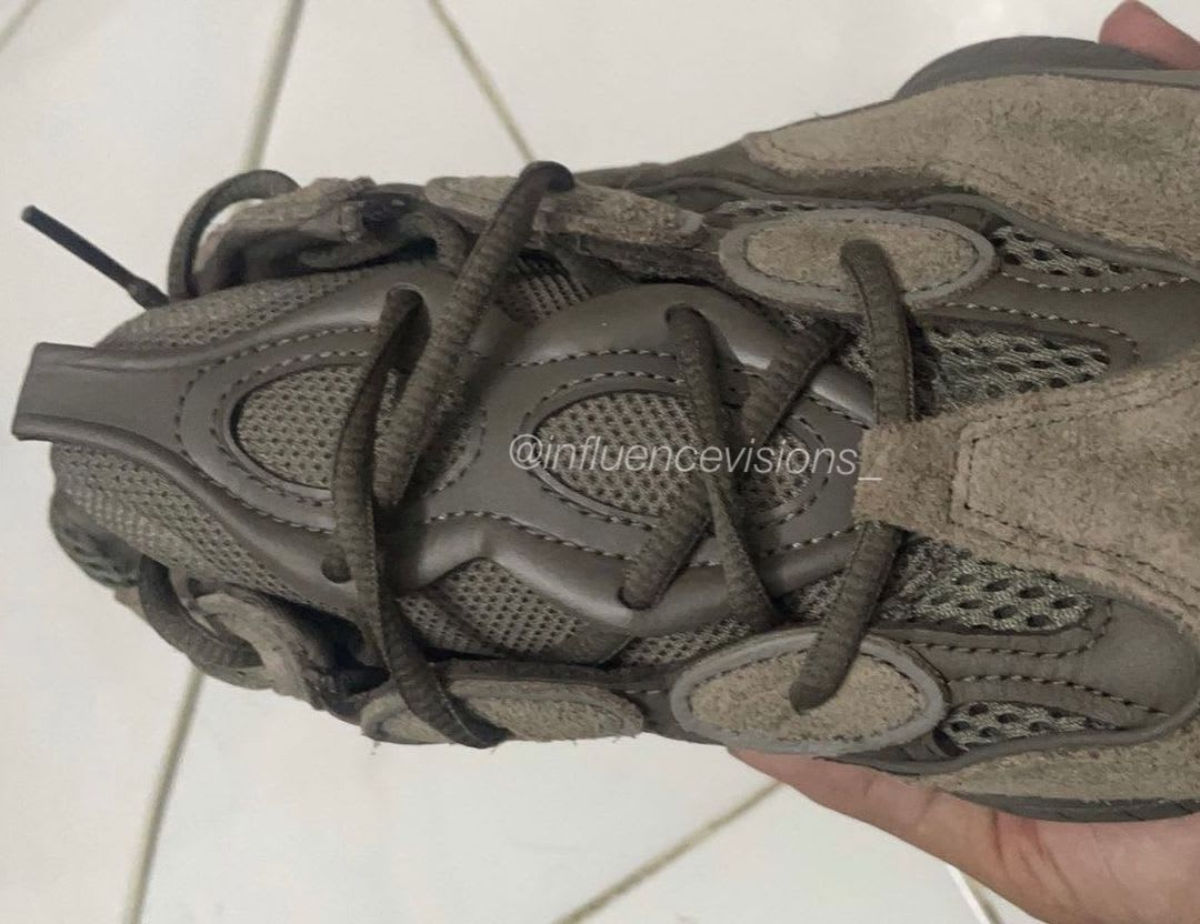 Adidas Yeezy 500 'Brown Clay' Tongue