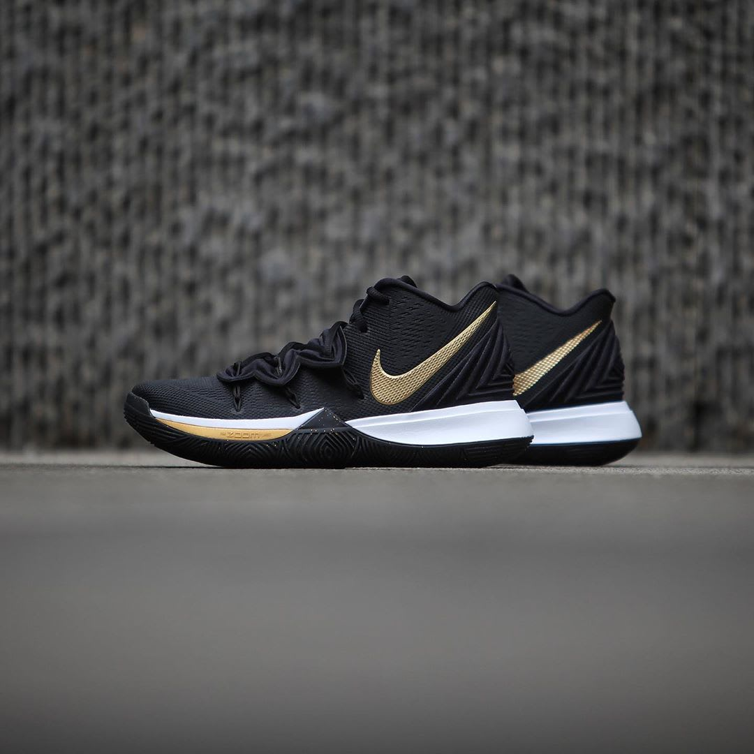 Nike Kyrie 5 Black Metallic Gold White Release Date AO2918