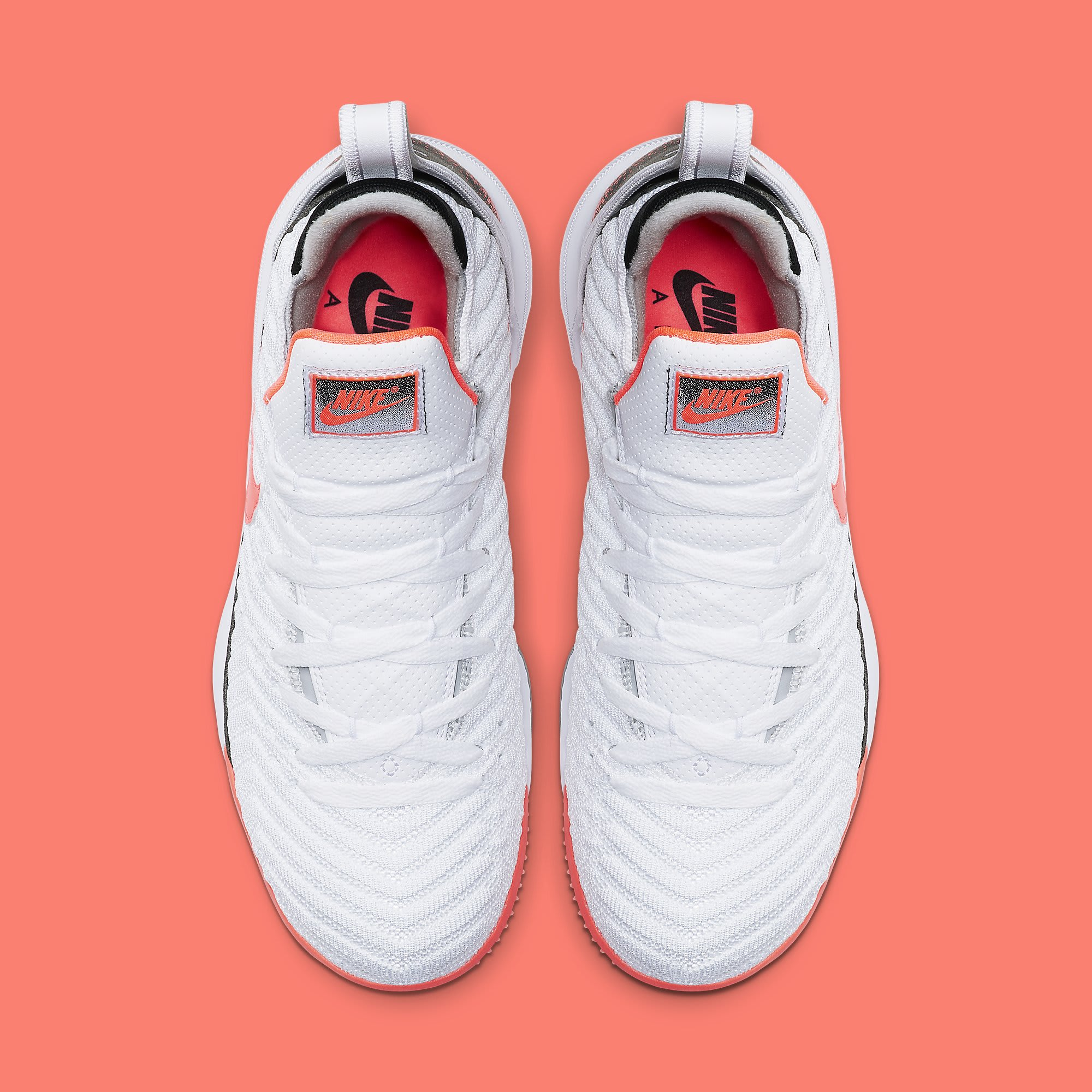 Nike LeBron 16 'Hot Lava' White CI1521-100 Top