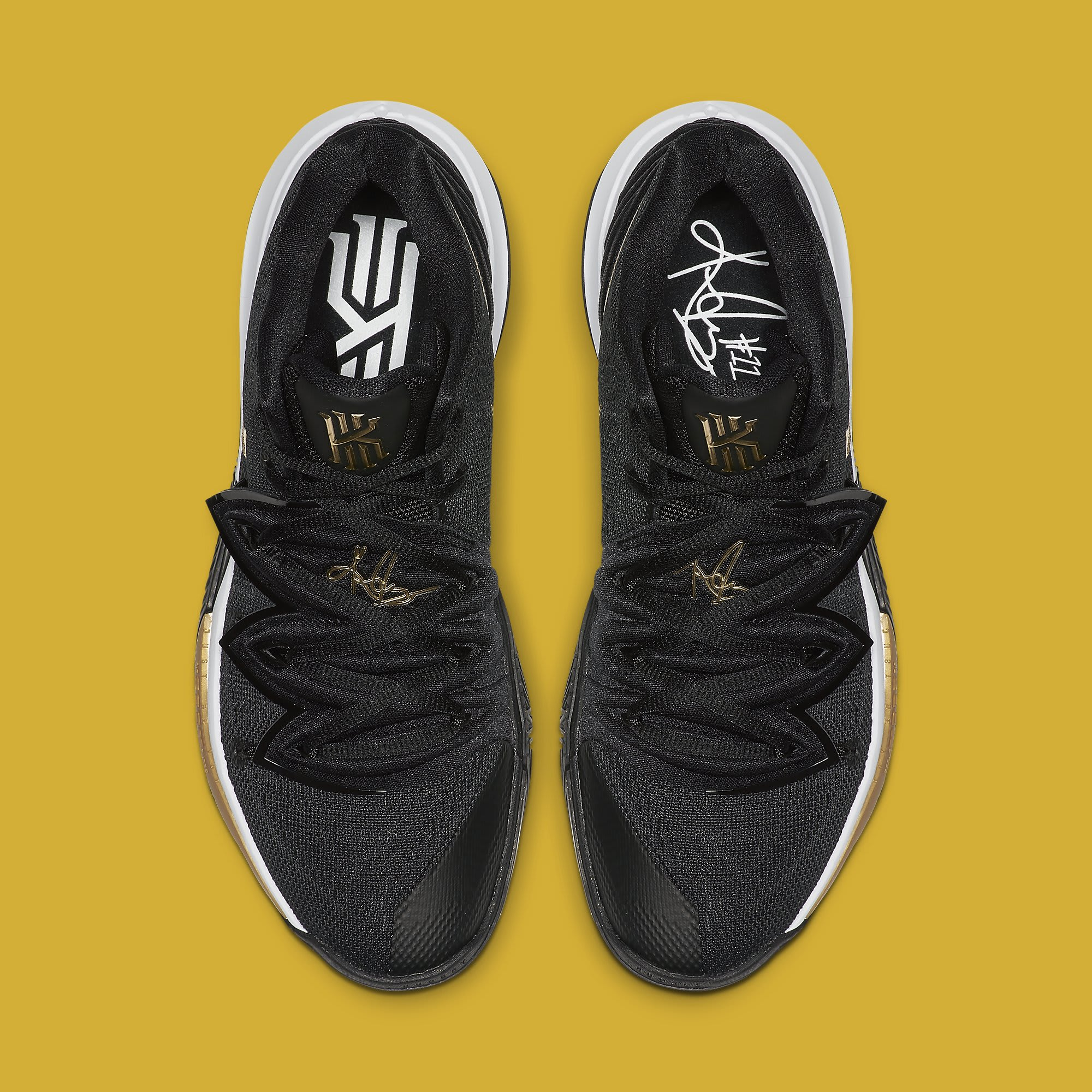 Nike Kyrie 5 'Black/Gold' AO2918-007 Top