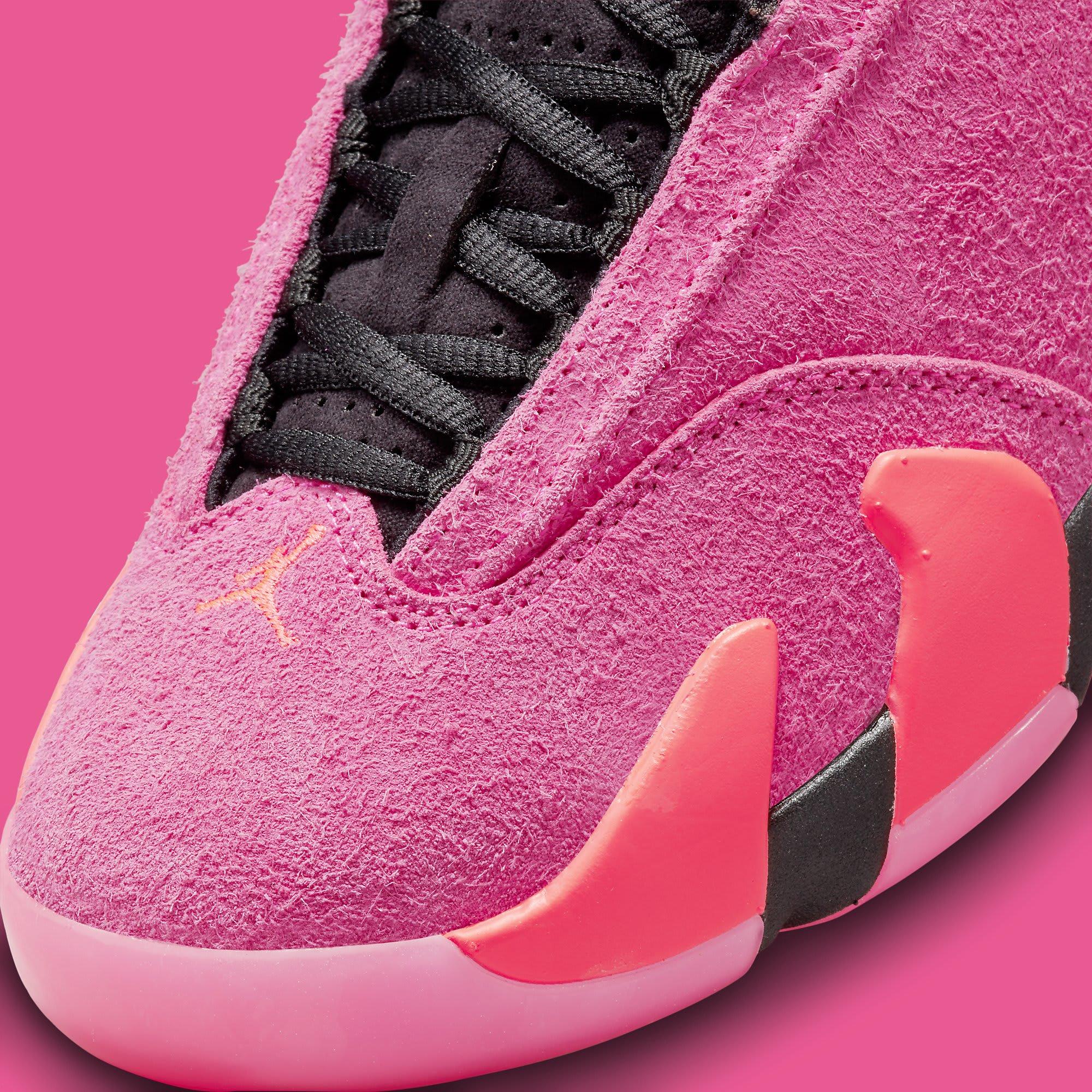 Air Jordan 14 Women's 'Shocking Pink' DH4121 600 Toe