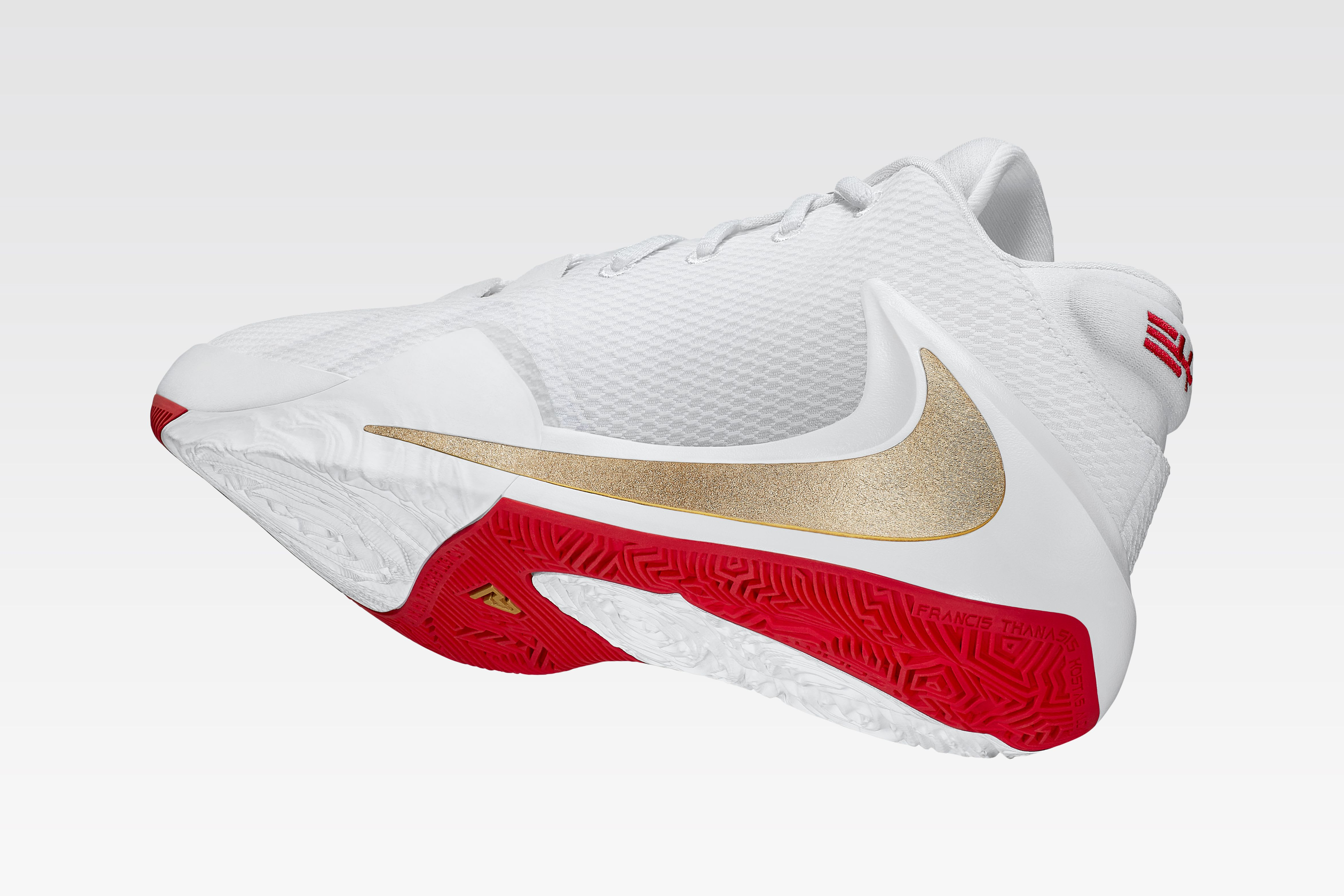 Nike Air Zoom Freak 1 (White/Gold/Red)