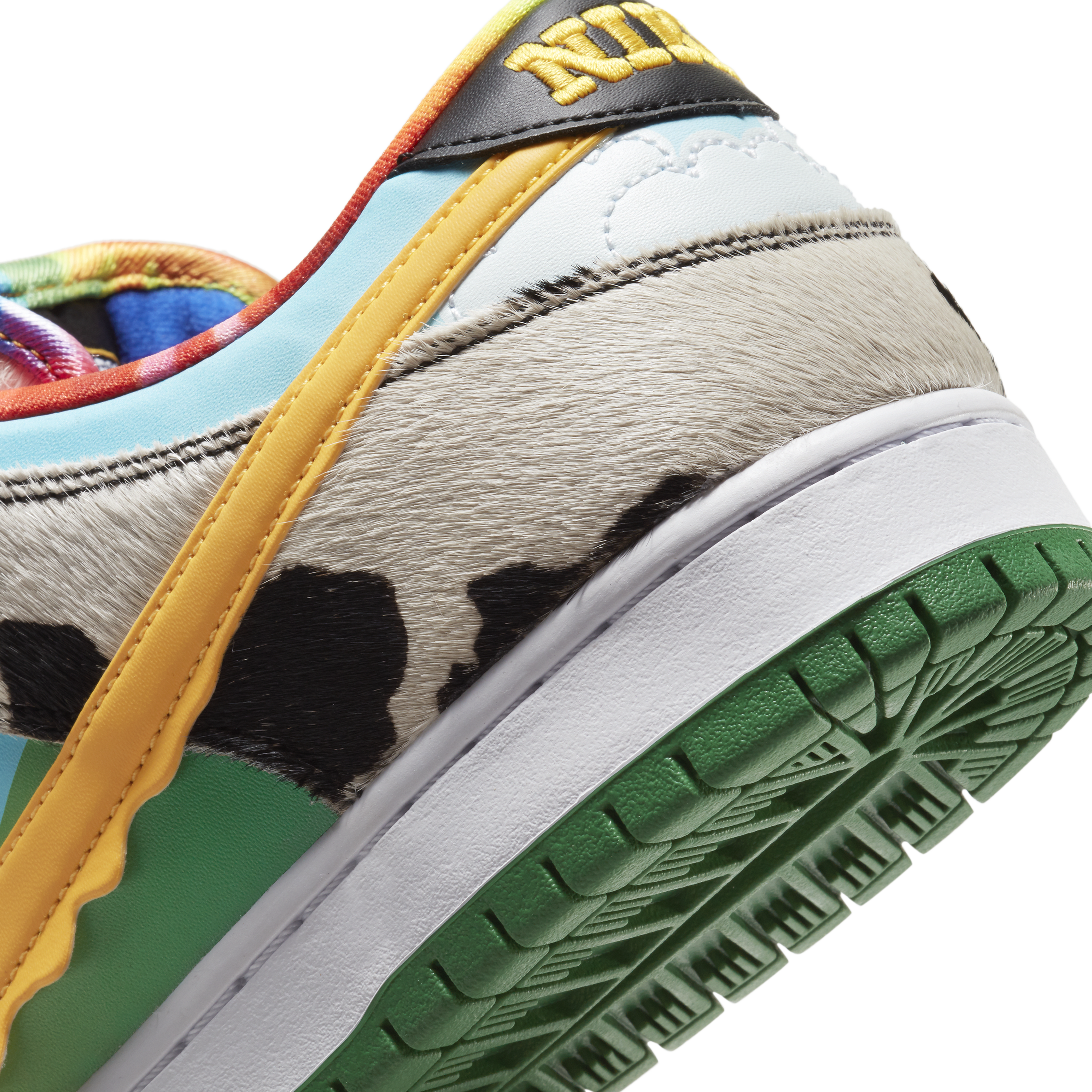 Ben and Jerry's x Nike SB Dunk Low 'Chunky Dunky' CU3244-100 (Heel Detail)