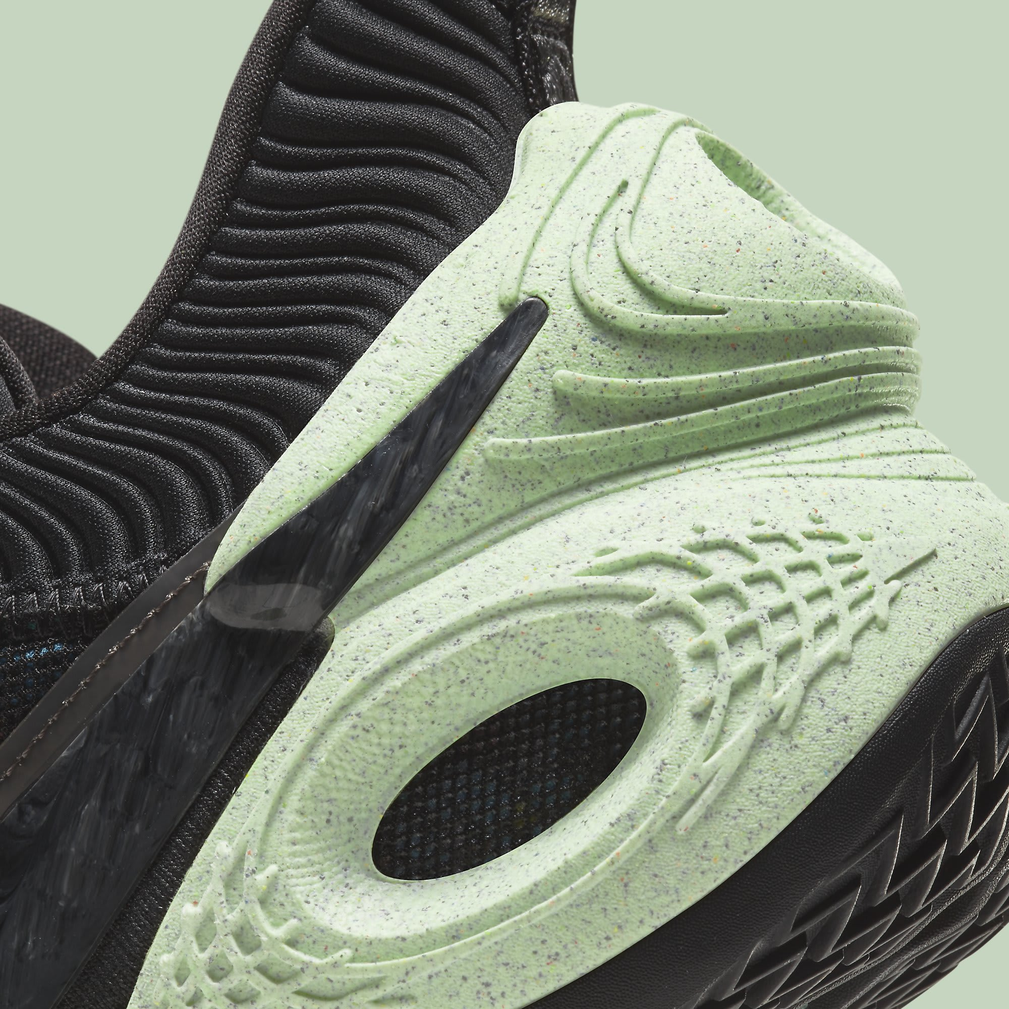 Nike Cosmic Unity 'Green Glow' DA6725-001 Heel