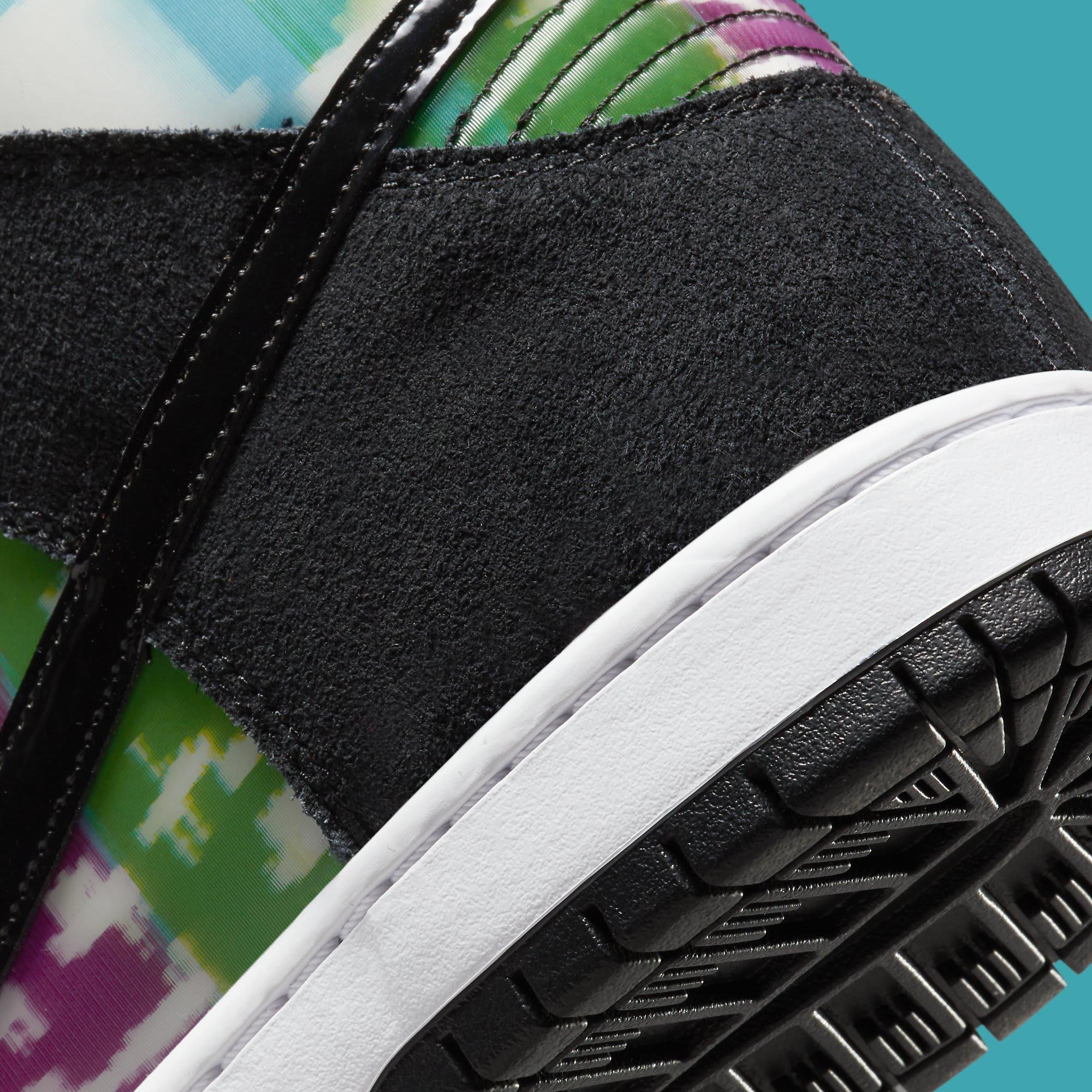 Nike SB Dunk High TV Signal Release Date CZ2253-100 Heel Detail